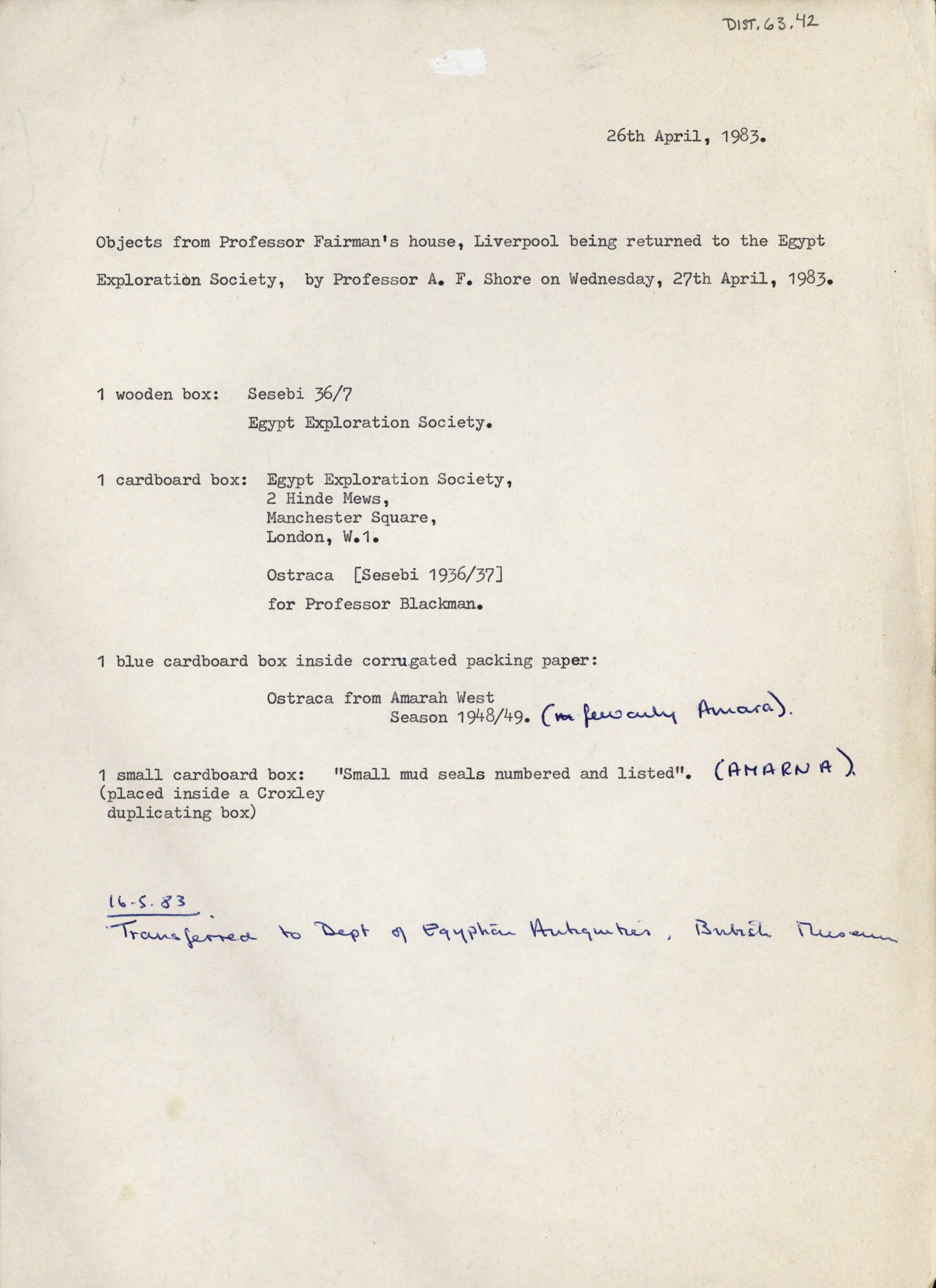 1936-39 Amarah West, Sesebi DIST.63.42