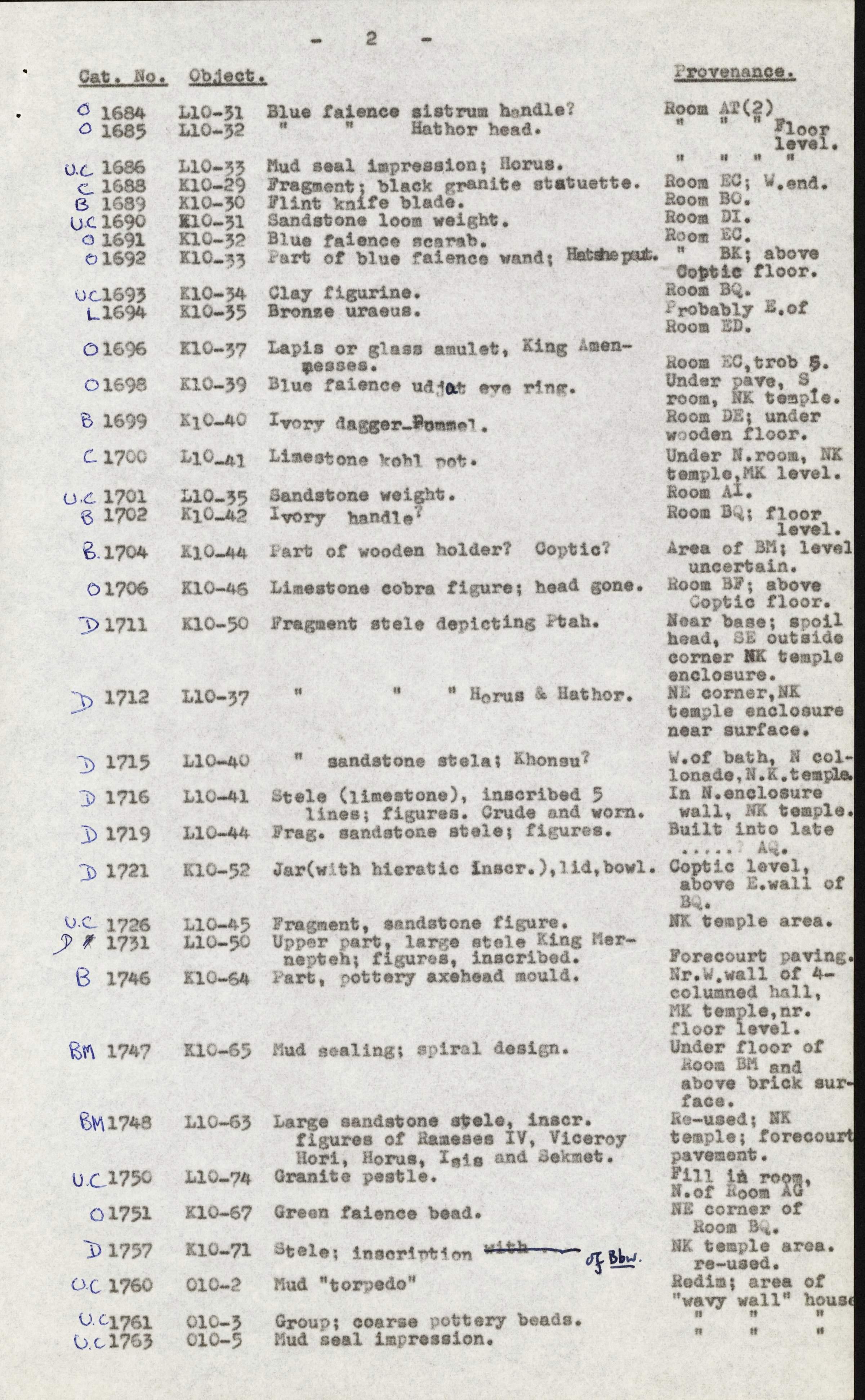 1959-74  Buhen DIST.68.23b