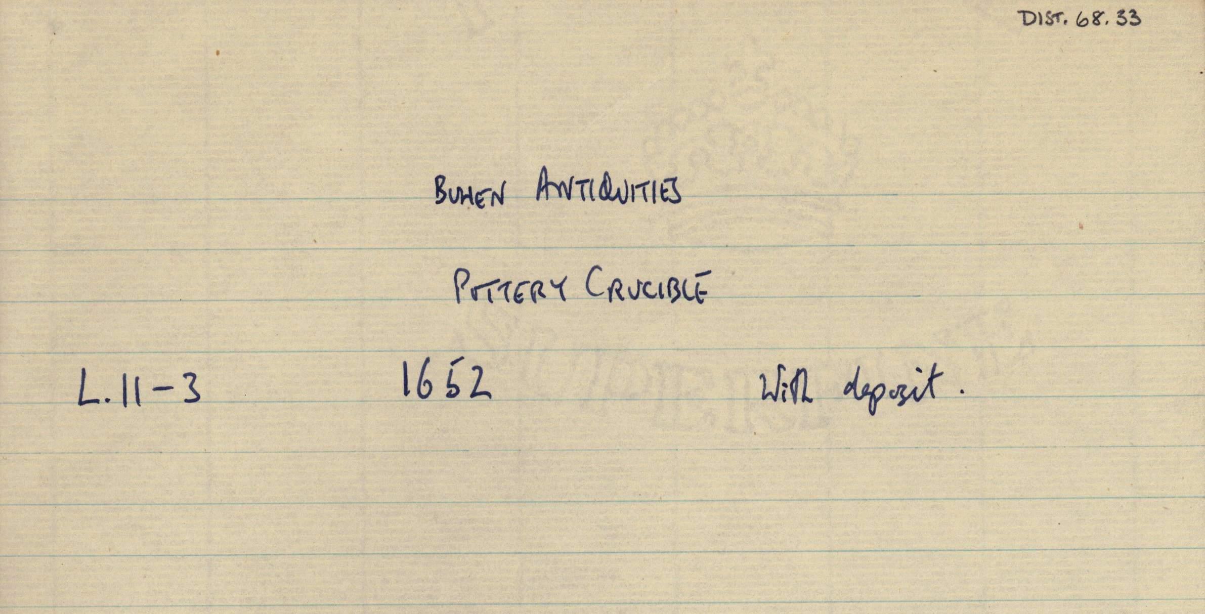 1959-74  Buhen DIST.68.33