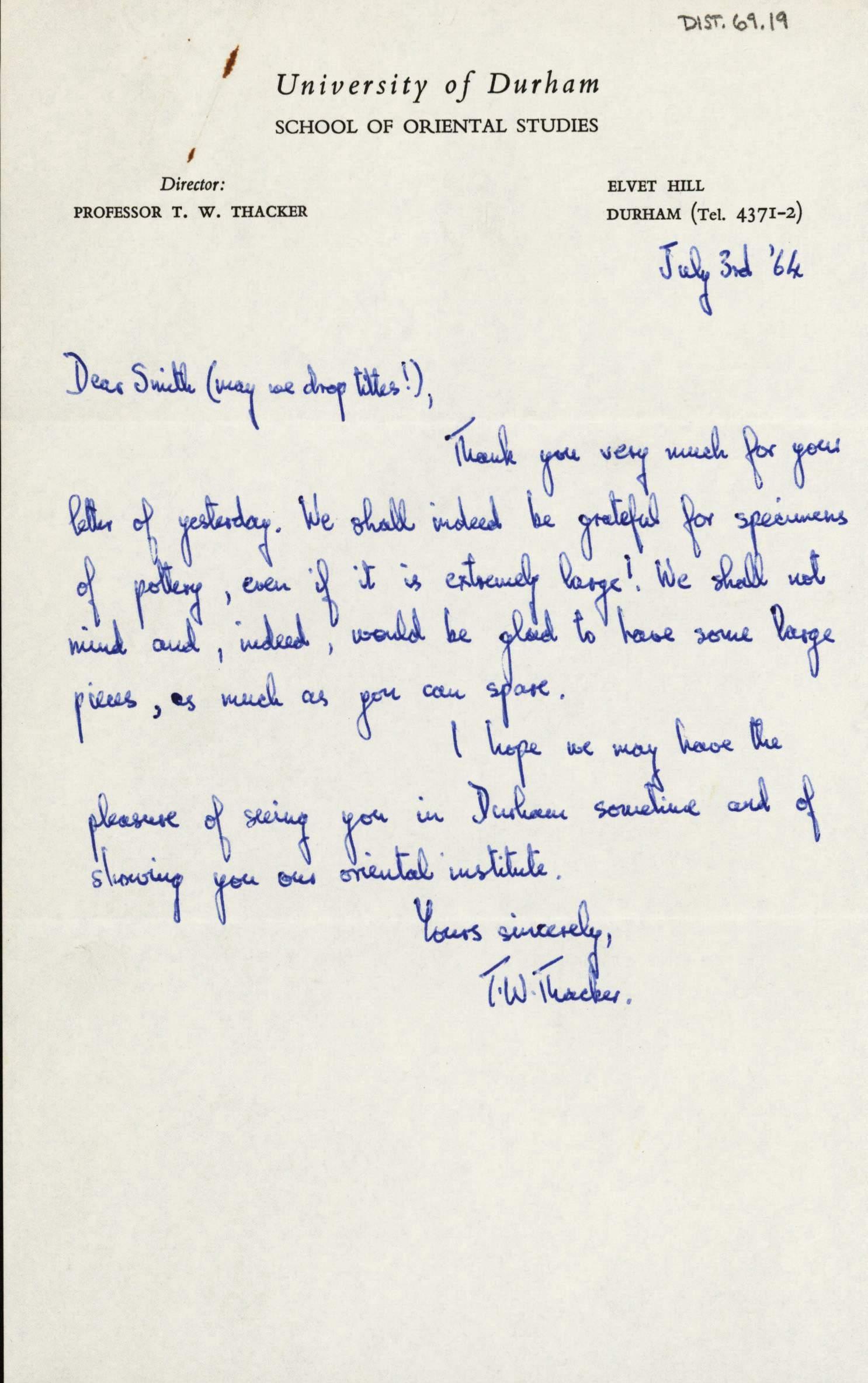 1959-76 Buhen DIST.69.19