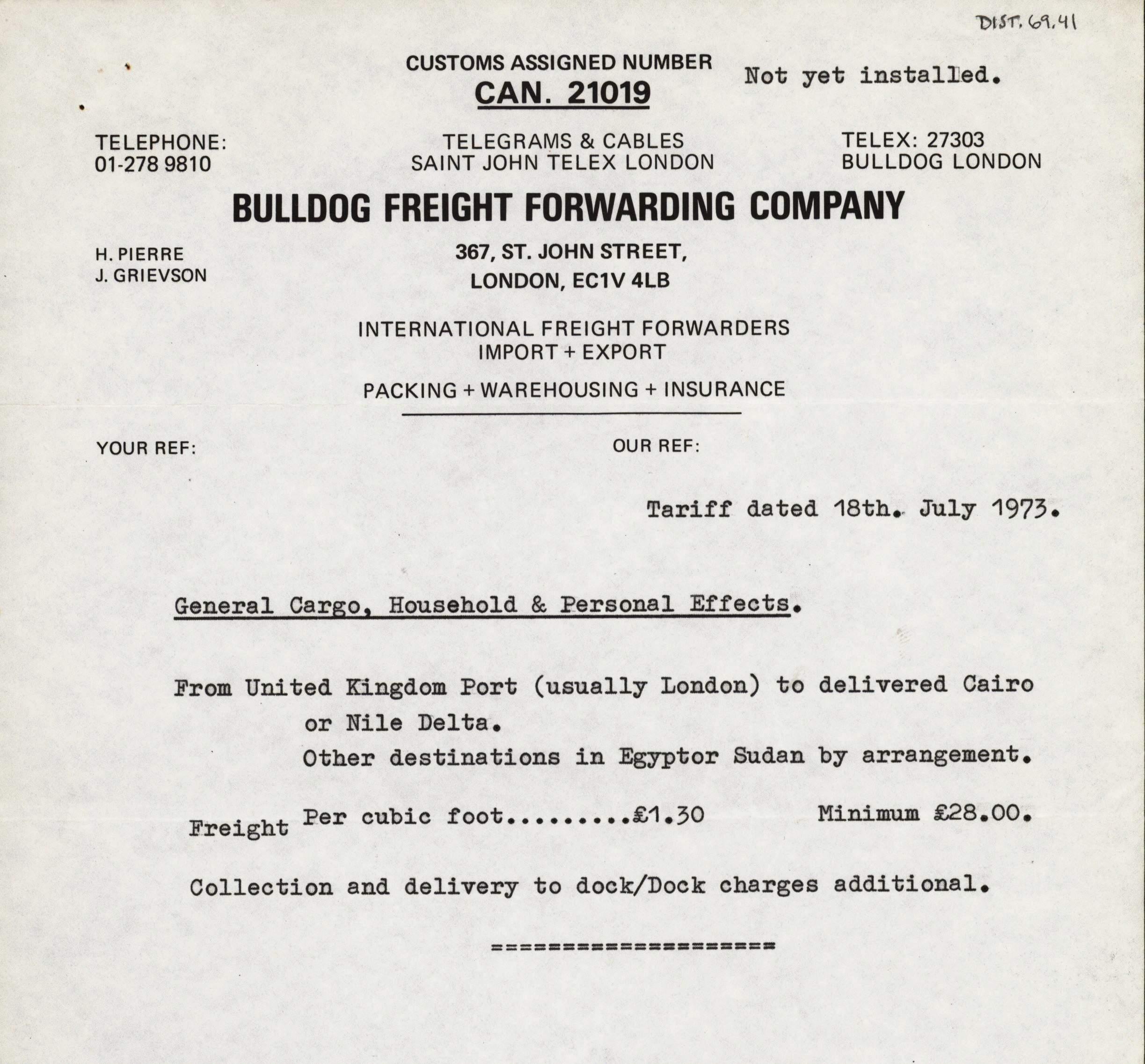 1959-76 Buhen DIST.69.41