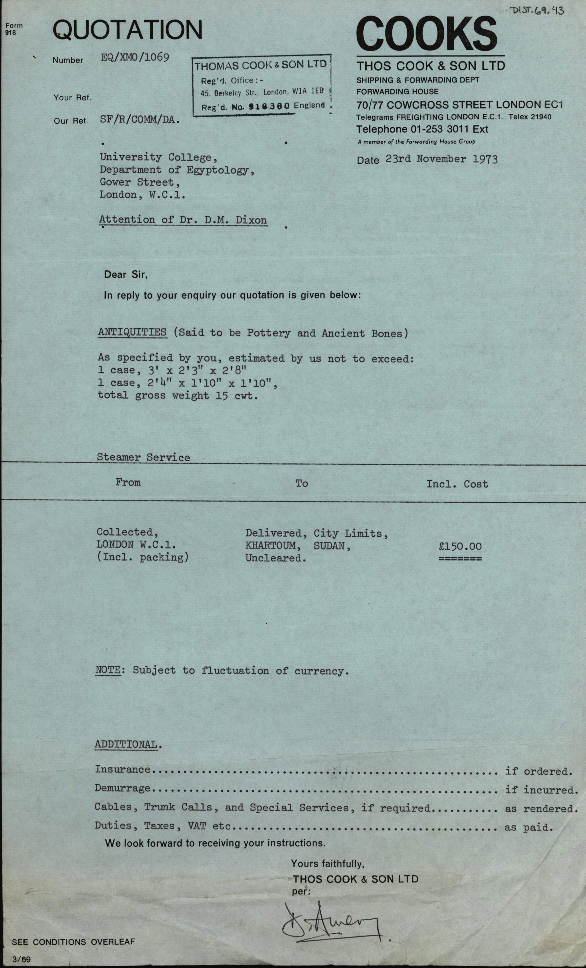1959-76 Buhen DIST.69.43a