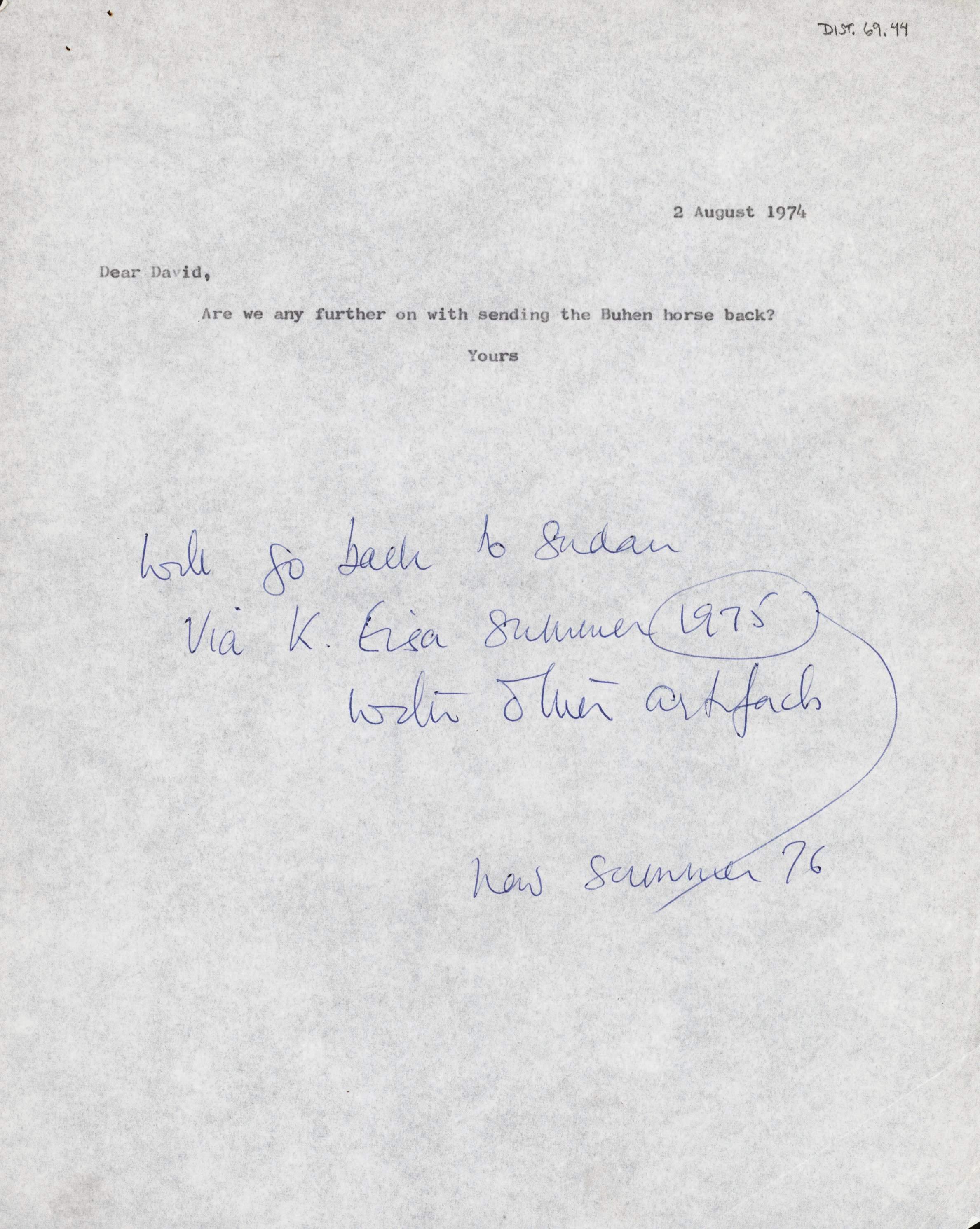 1959-76 Buhen DIST.69.44