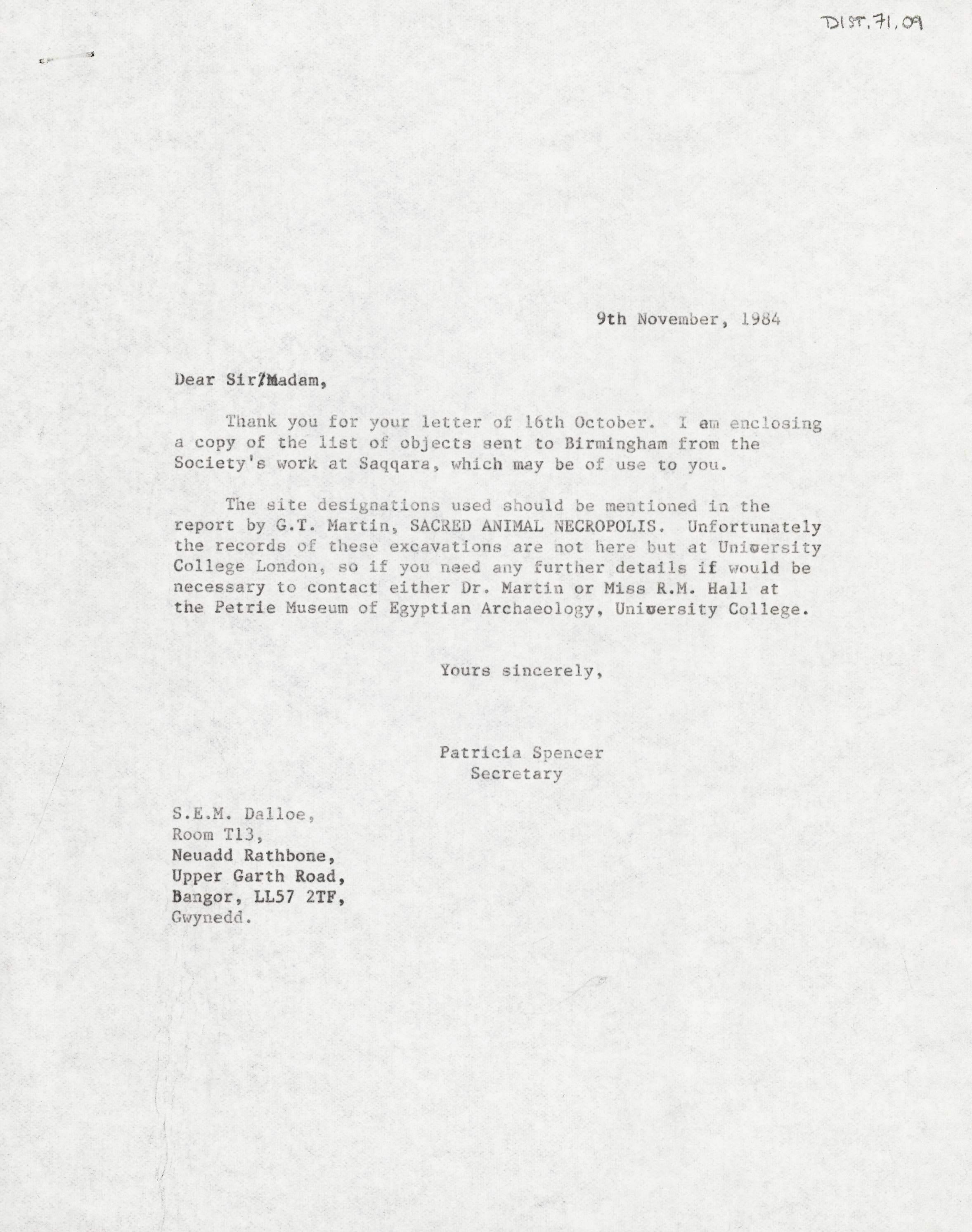 1968-84 Saqqara DIST.71.09
