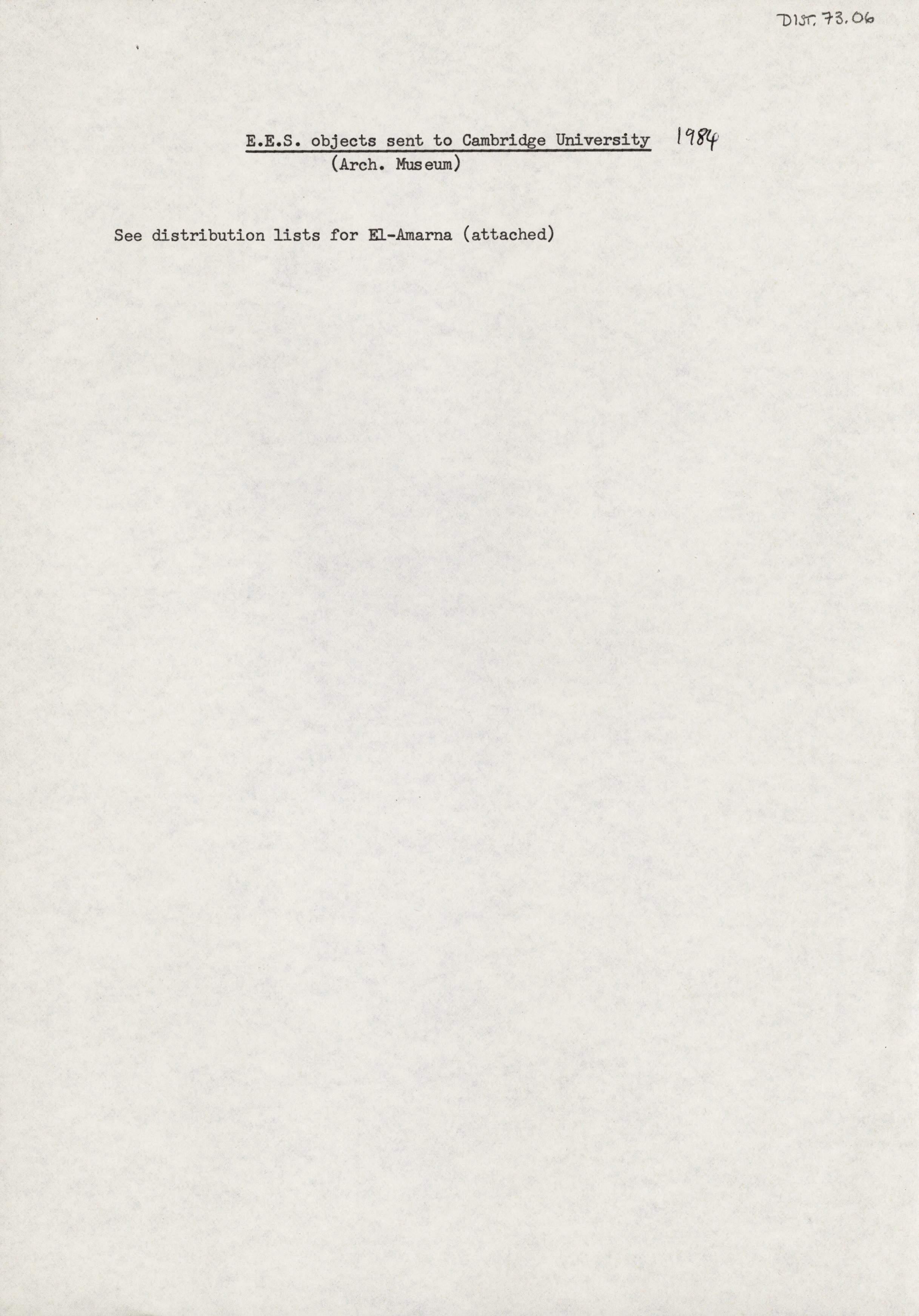 1979-84 Qasr Ibrim, Saqqara and Amarna DIST.73.06a