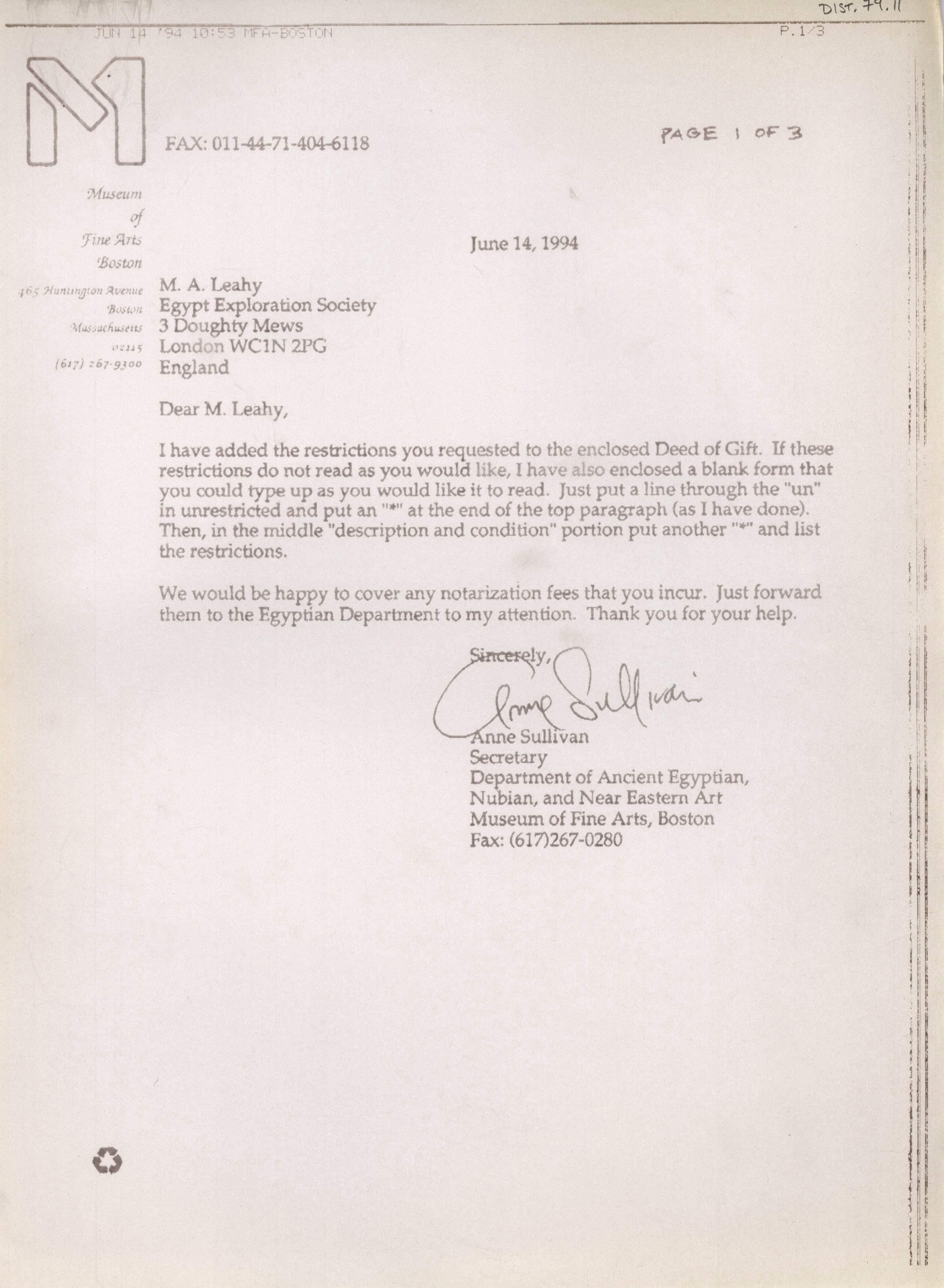 1986-2001 Saqqara, Qasr Ibrim and Memphis DIST.74.11a