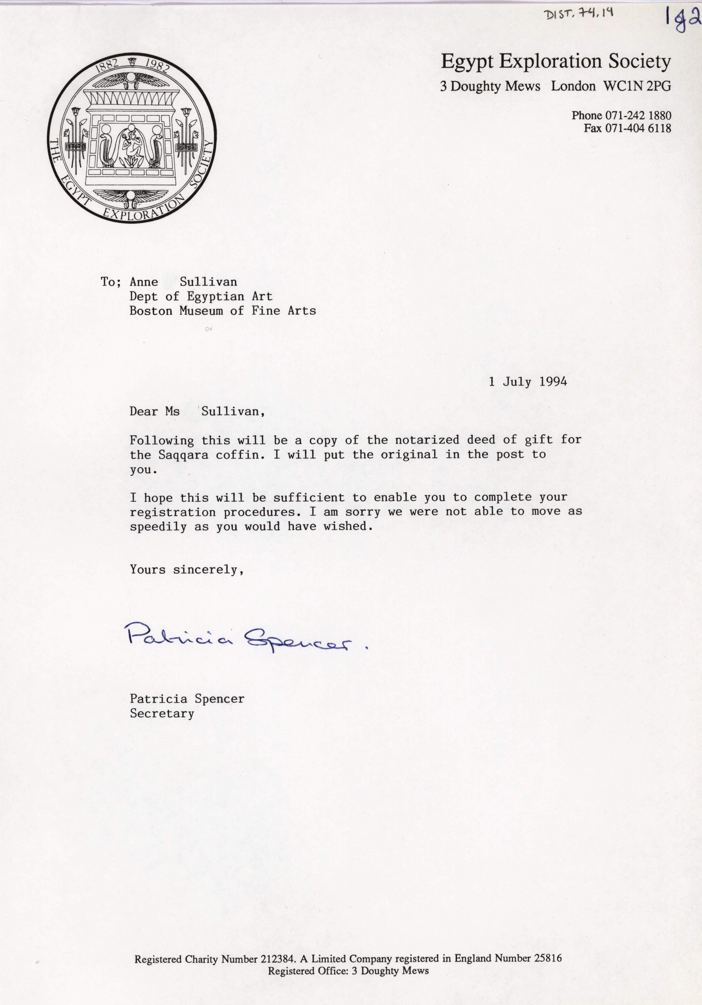 1986-2001 Saqqara, Qasr Ibrim and Memphis DIST.74.14a
