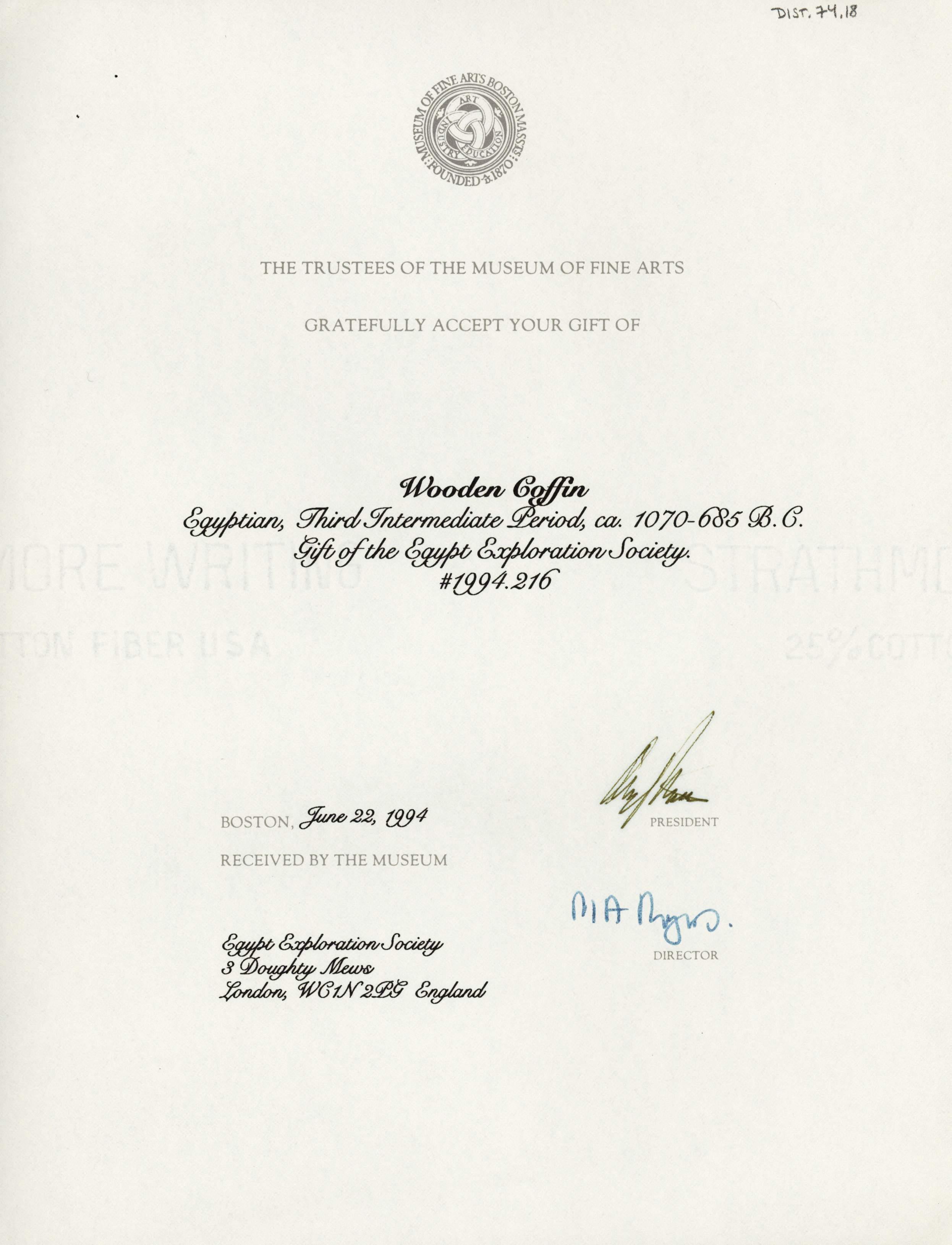 1986-2001 Saqqara, Qasr Ibrim and Memphis DIST.74.18