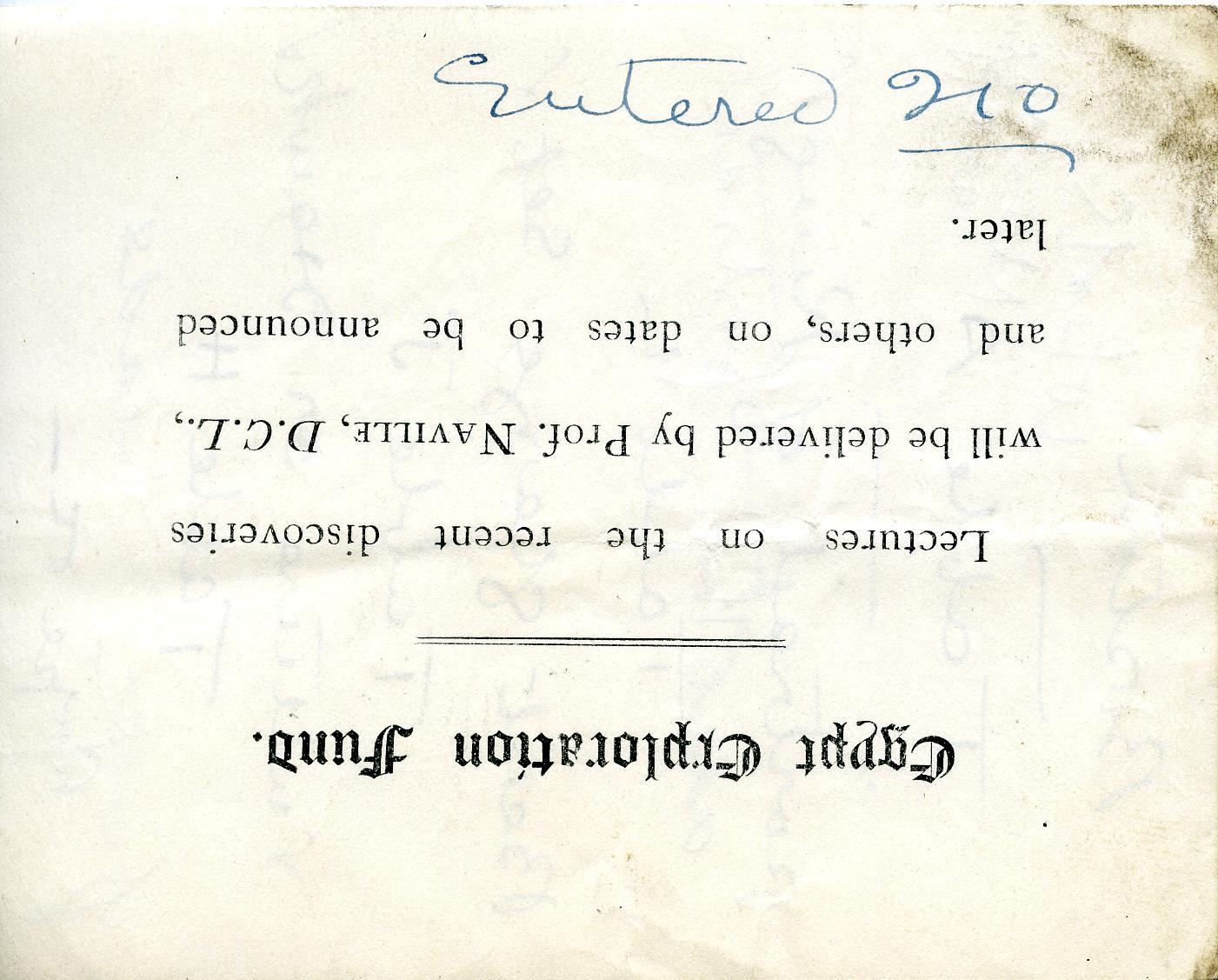 1905-06 Deir el-Bahri, Oxyrhynchus DIST.26.13.076