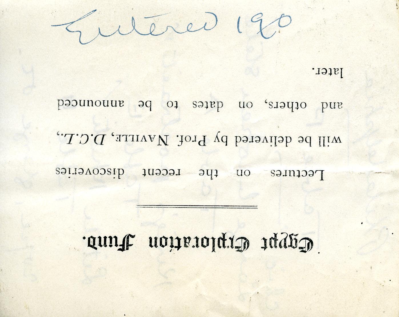 1905-06 Deir el-Bahri, Oxyrhynchus DIST.26.13.078