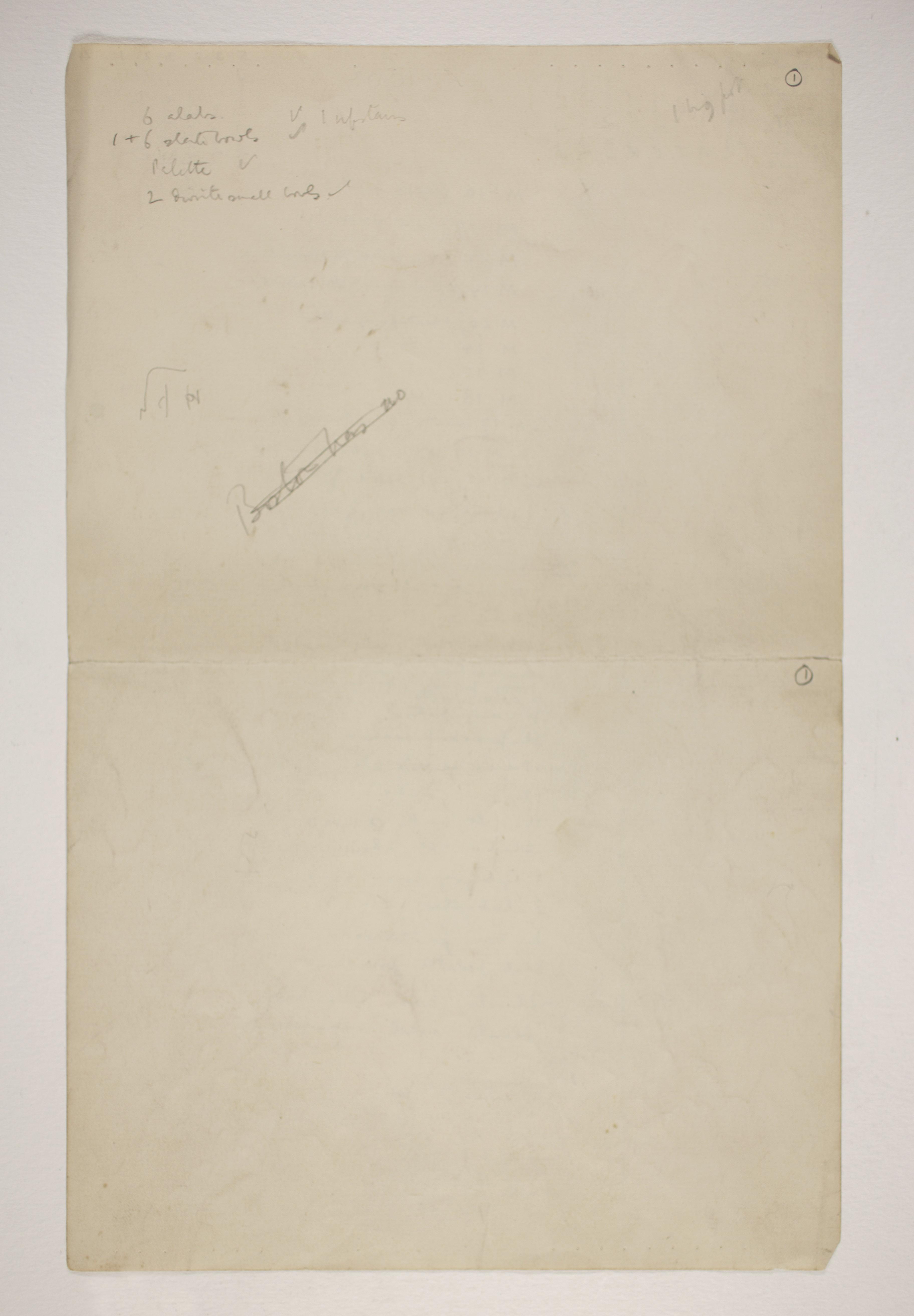 1901-02 Abydos Object list PMA/WFP1/D/10/1.2