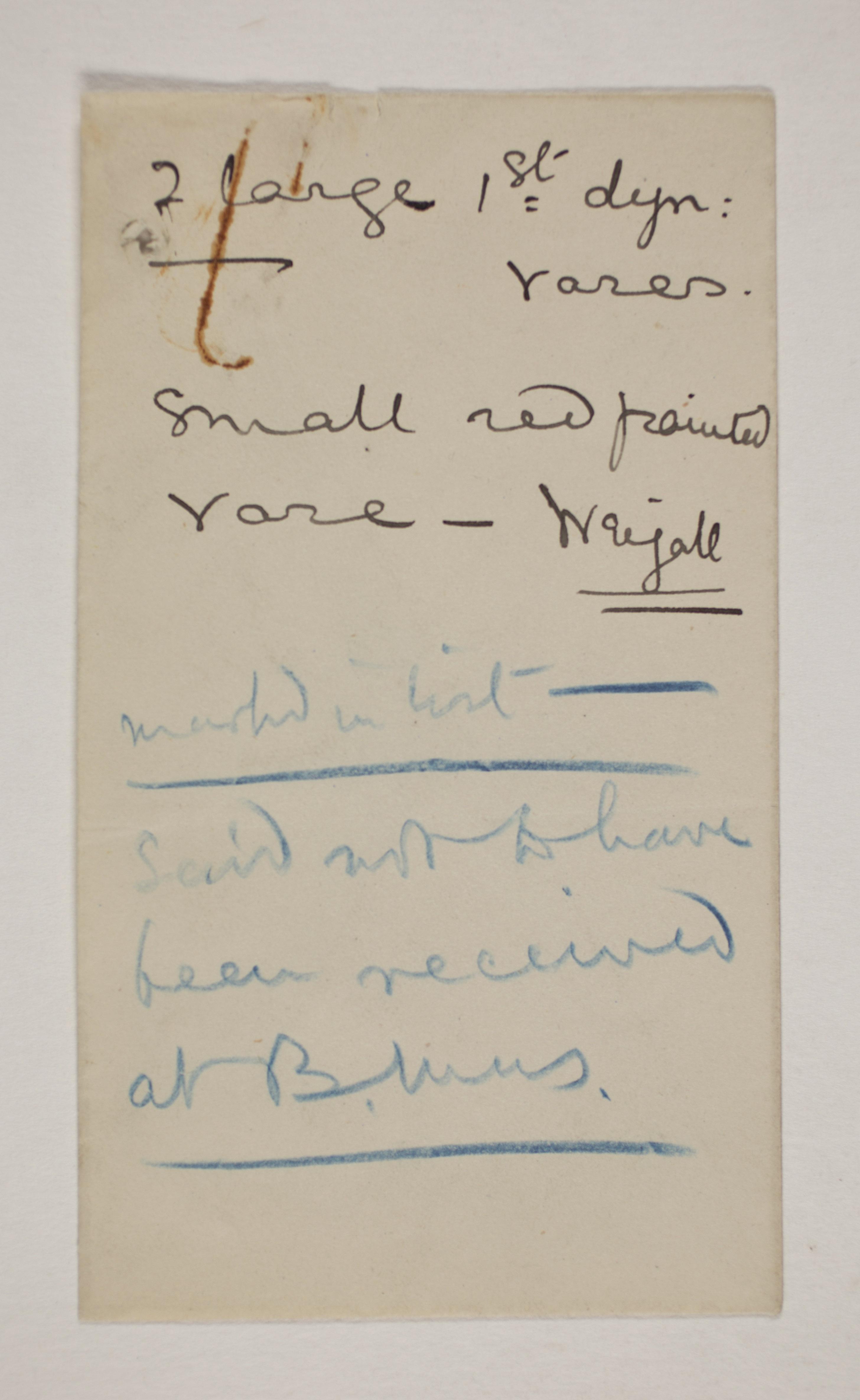 1901-02 Abydos Object list PMA/WFP1/D/10/4