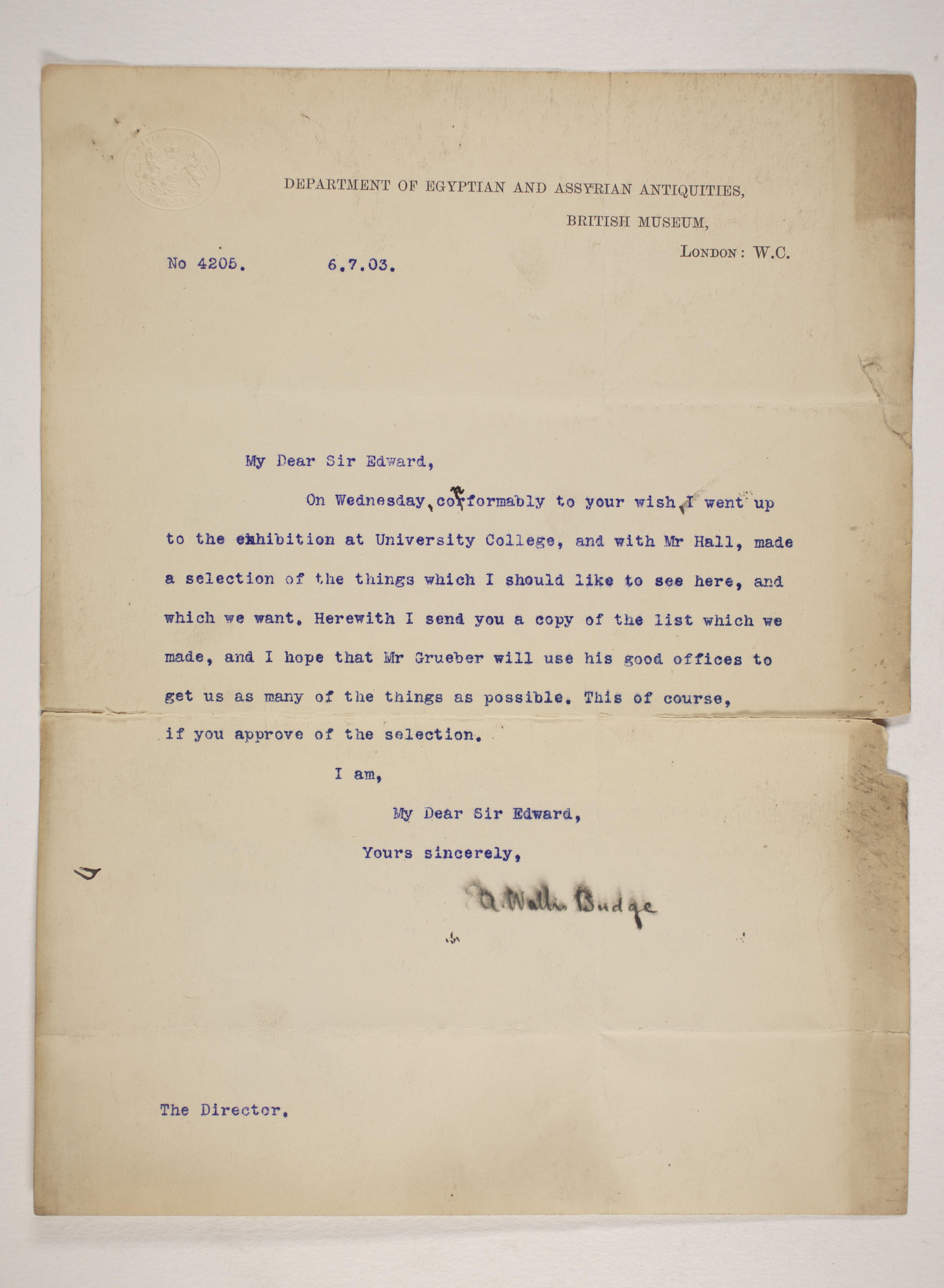 1902-03 Abydos Correspondence PMA/WFP1/D/11/68