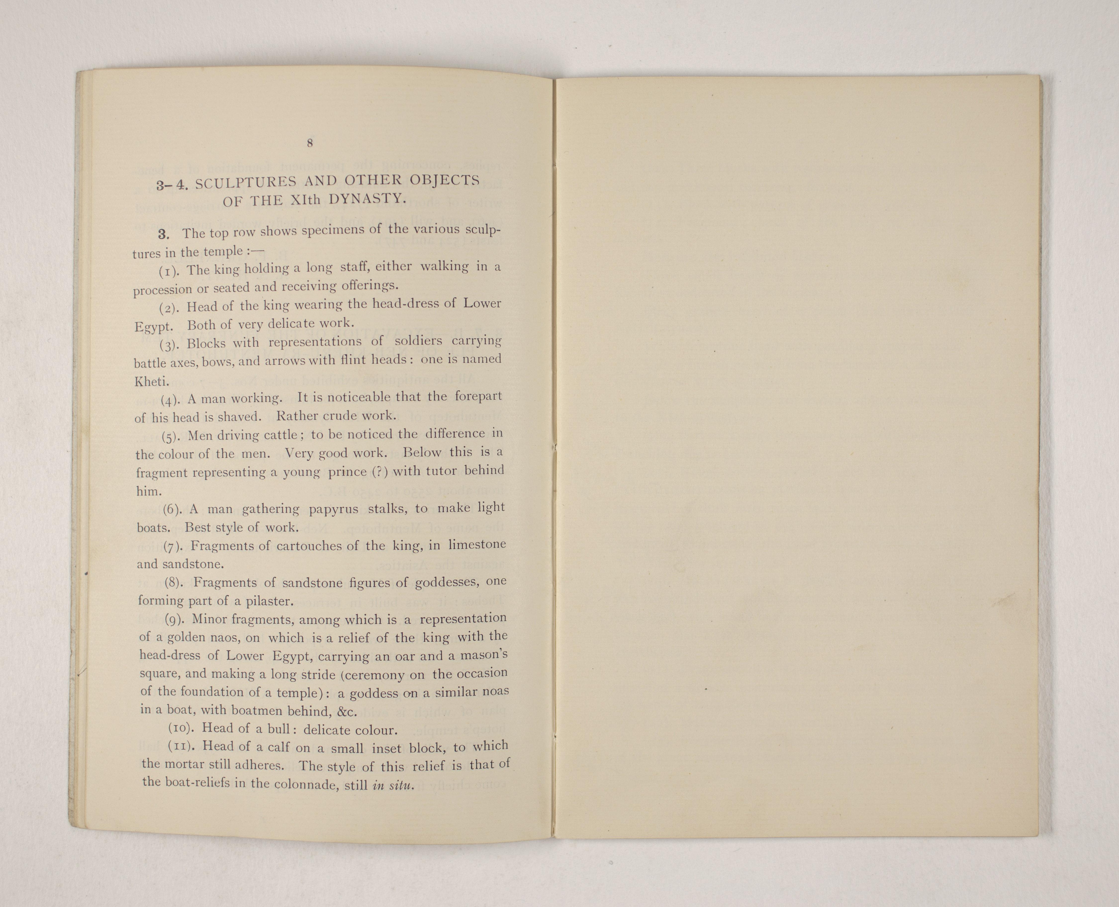 1903-04 Abydos, Ihnasya, Tell el-Fara'in, Saqqara, Gurob, Deir el-Bahri, Oxyrhynchus Exhibition Catalogue PMA/WFP1/D/12/12.10
