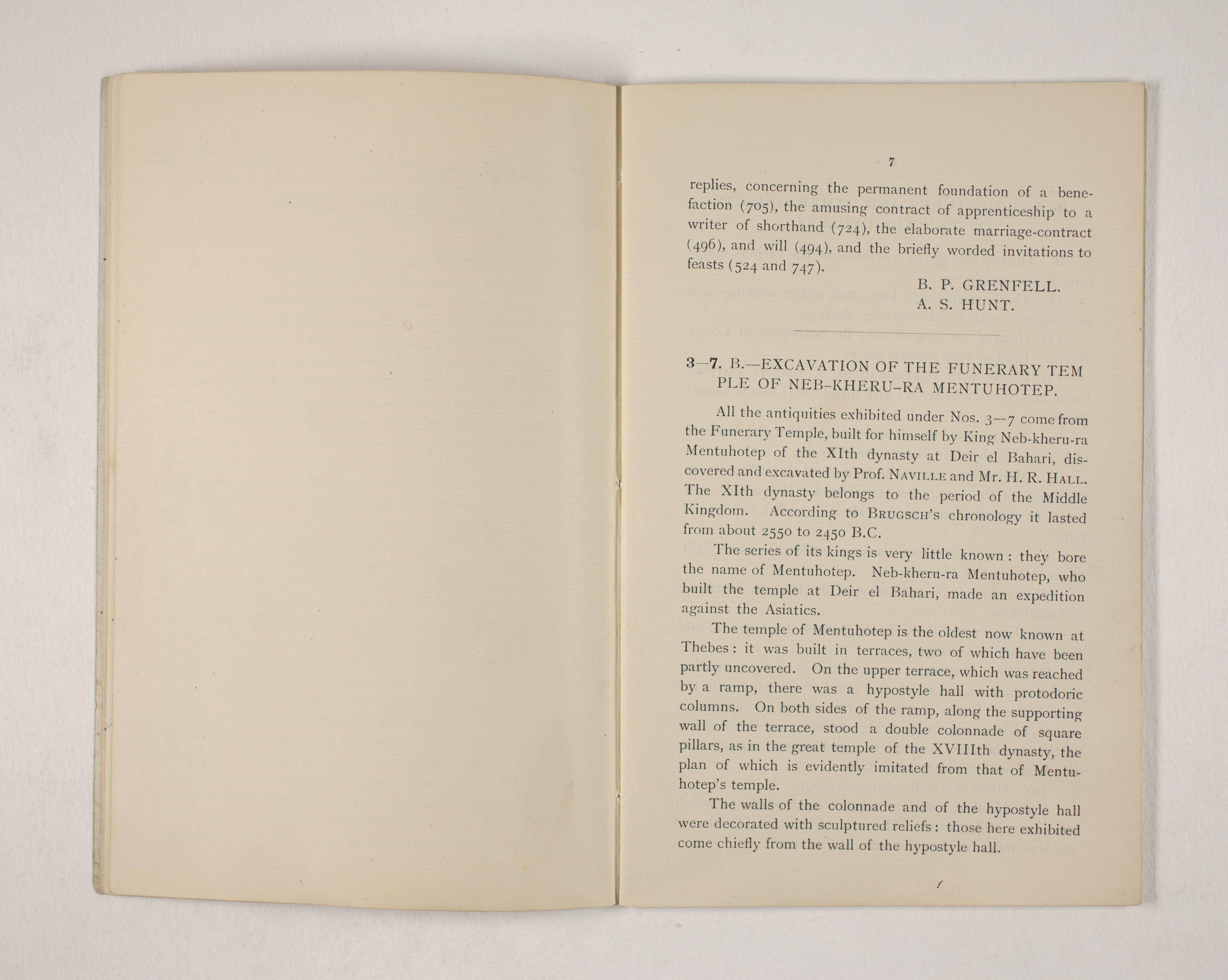 1903-04 Abydos, Ihnasya, Tell el-Fara'in, Saqqara, Gurob, Deir el-Bahri, Oxyrhynchus Exhibition Catalogue PMA/WFP1/D/12/12.9
