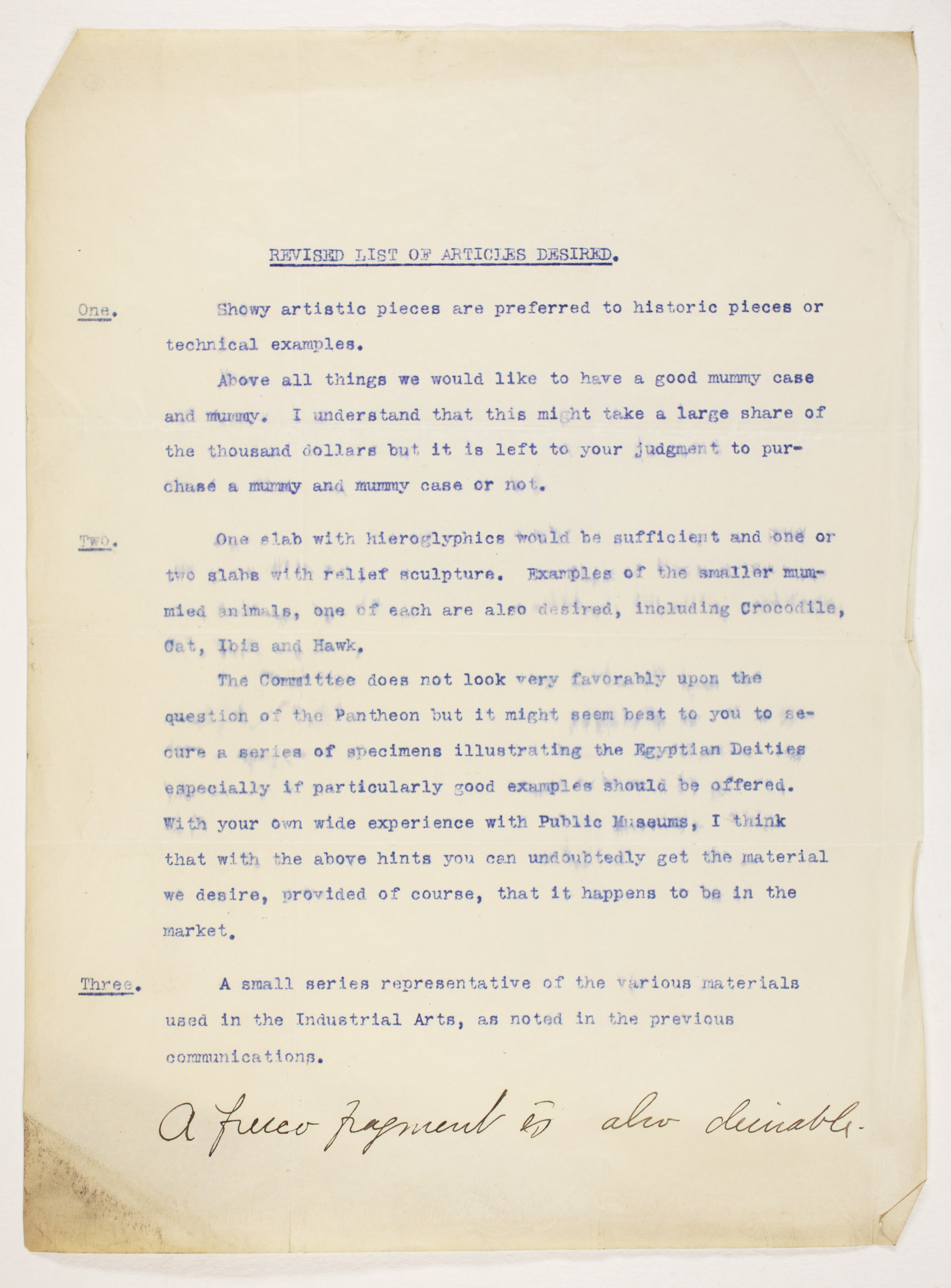 1904-05 Saqqara, Serabit el-Khadim, Sinai, Magharah, Sinai Correspondence PMA/WFP1/D/13/8