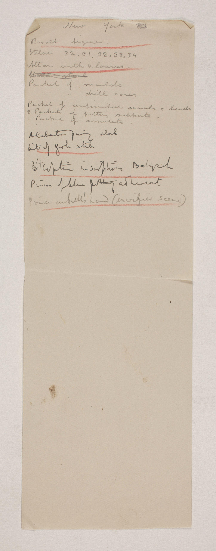 1907-08 Athribis, Memphis Individual institution list  PMA/WFP1/D/16/10