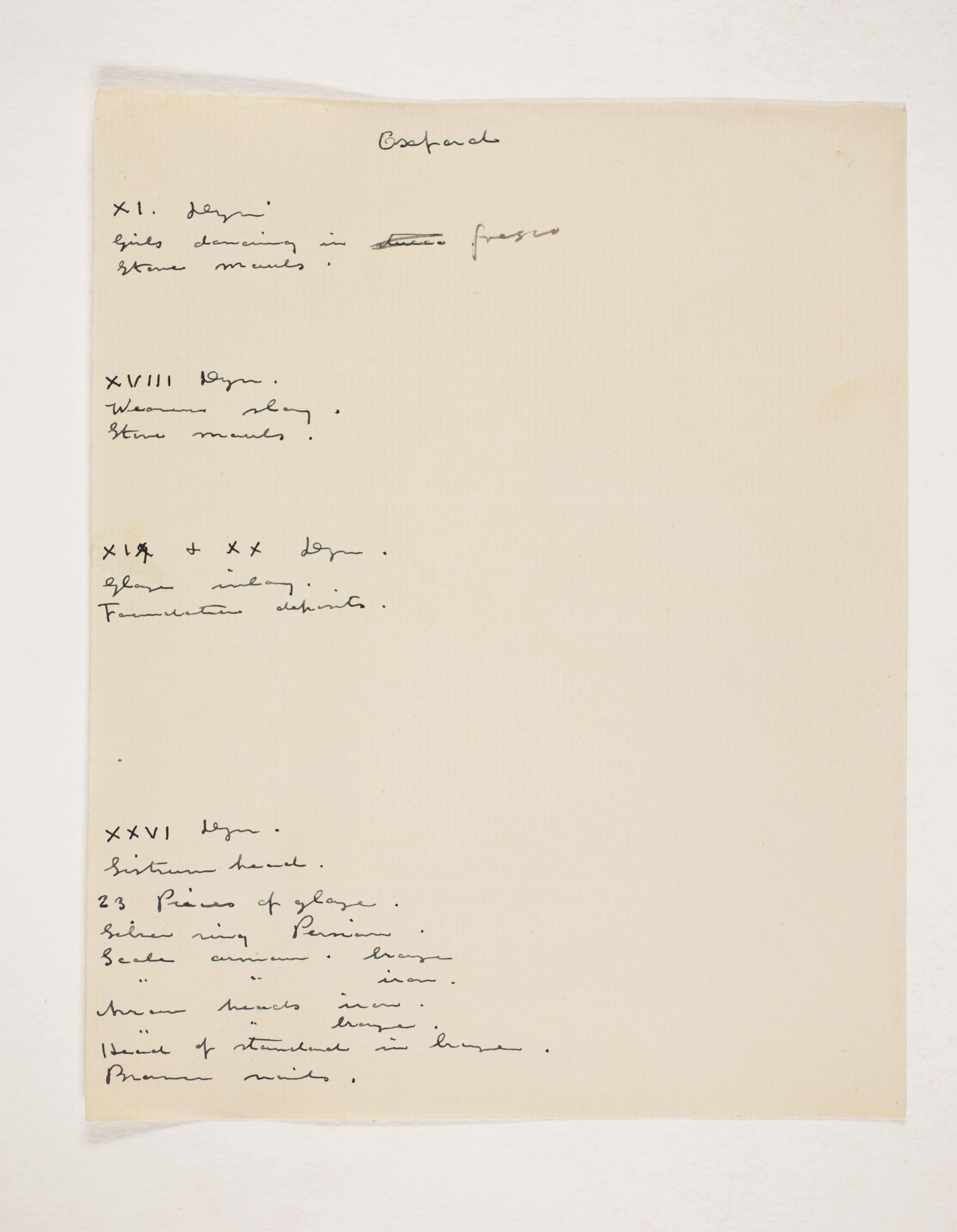 1908-09 Qurneh, Memphis Individual institution list  PMA/WFP1/D/17/10