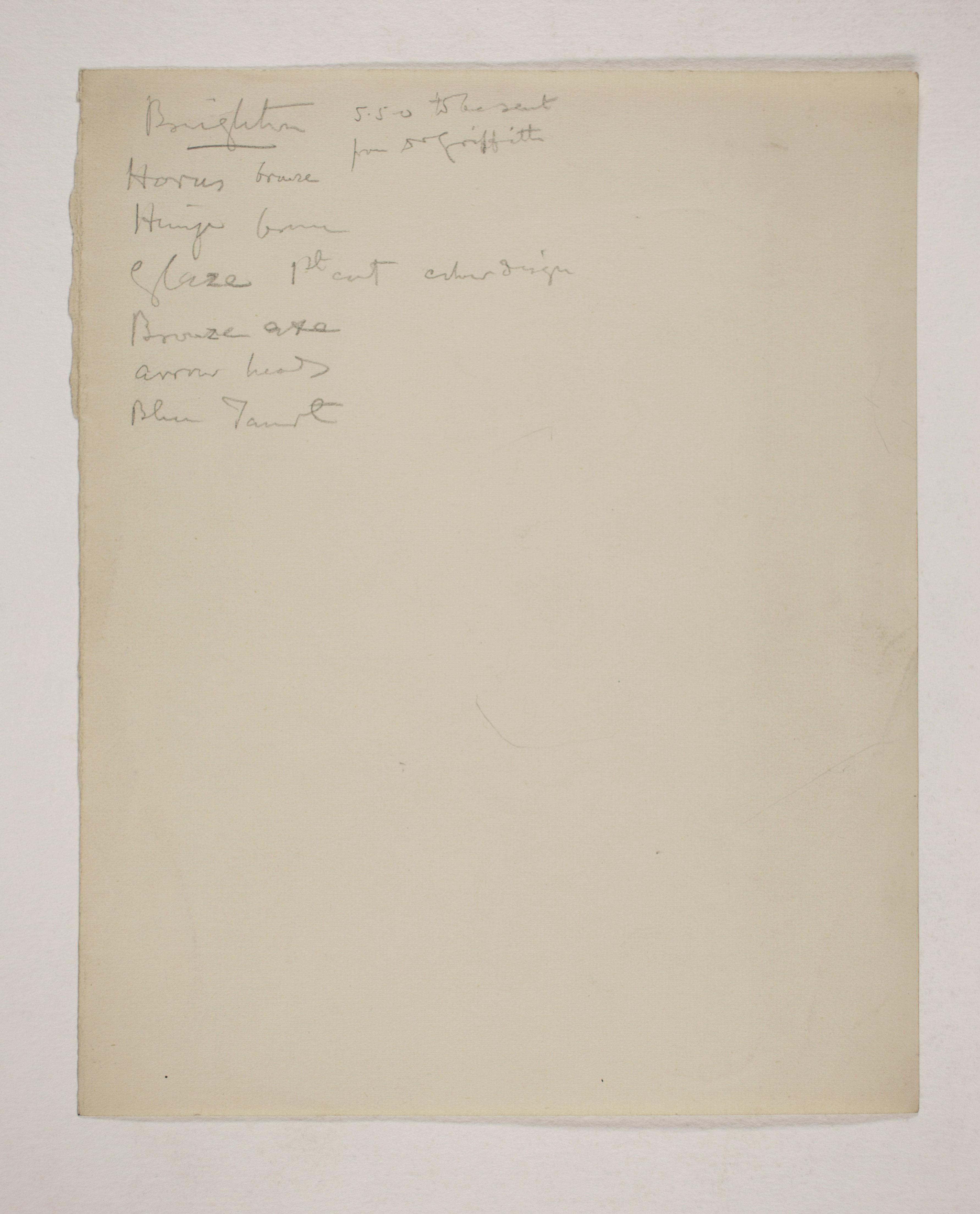 1909-10 Meidum, Memphis Individual institution list  PMA/WFP1/D/18/11