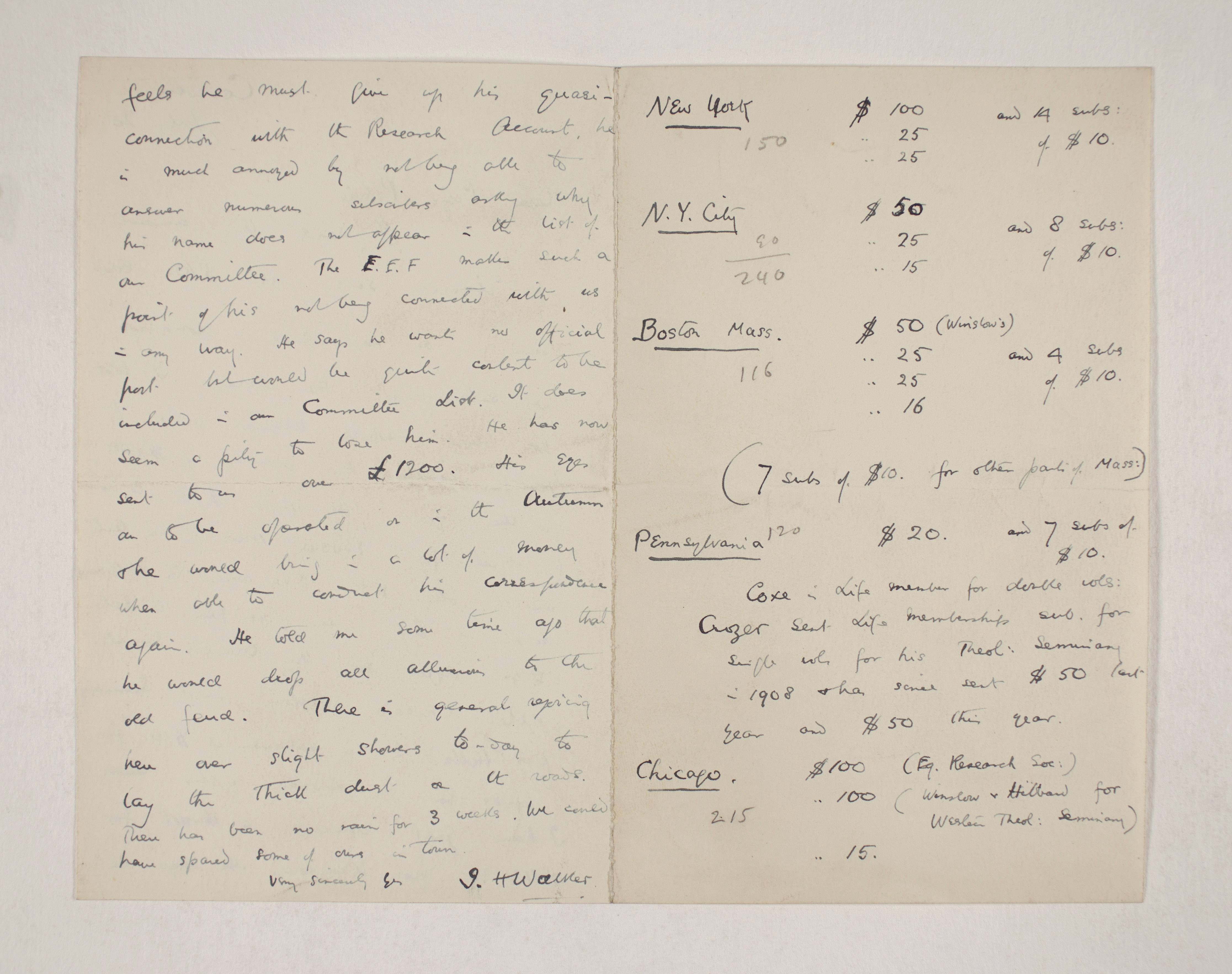 1909-10 Meidum, Memphis Correspondence PMA/WFP1/D/18/12.2