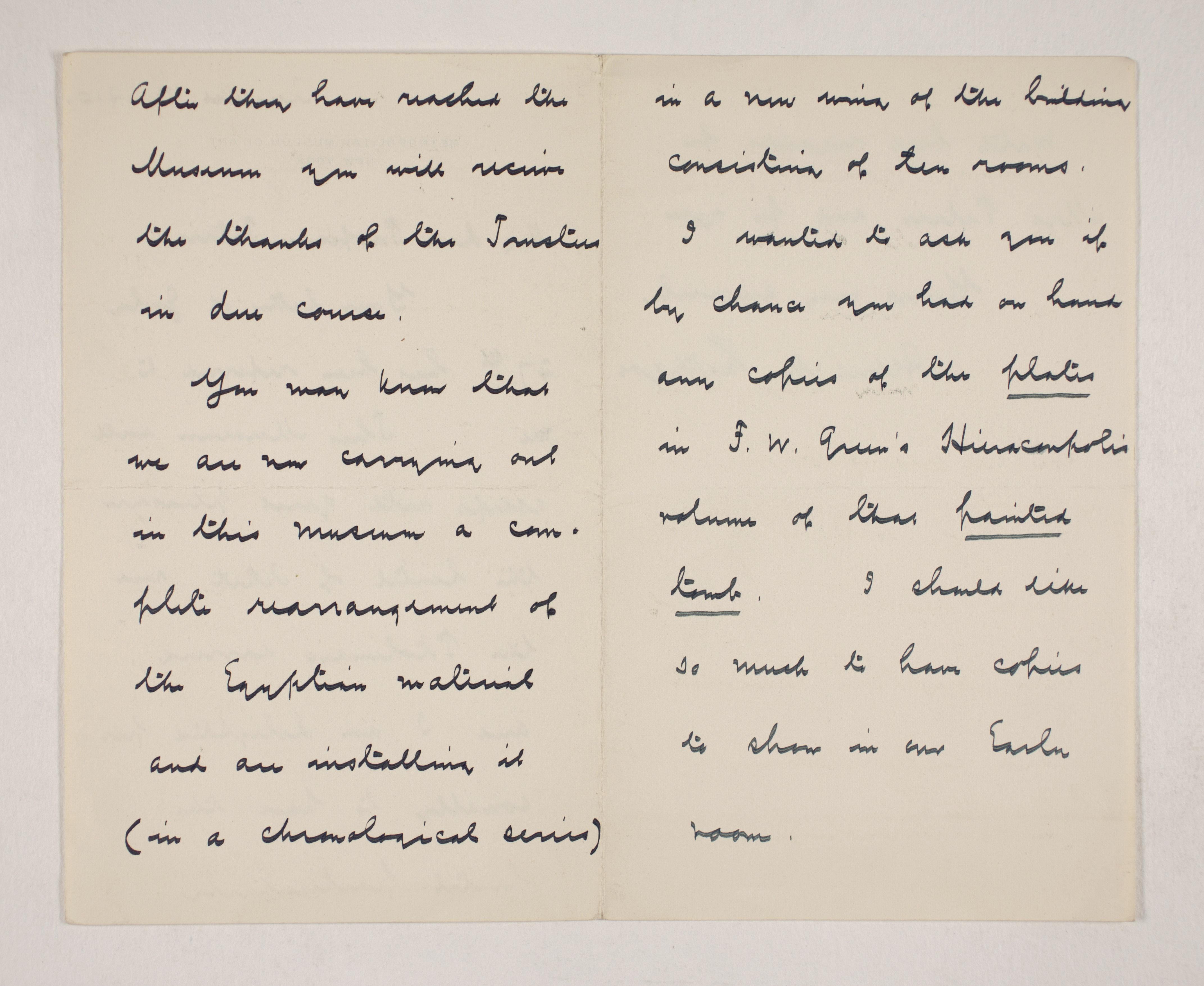 1909-10 Meidum, Memphis Correspondence PMA/WFP1/D/18/13.2
