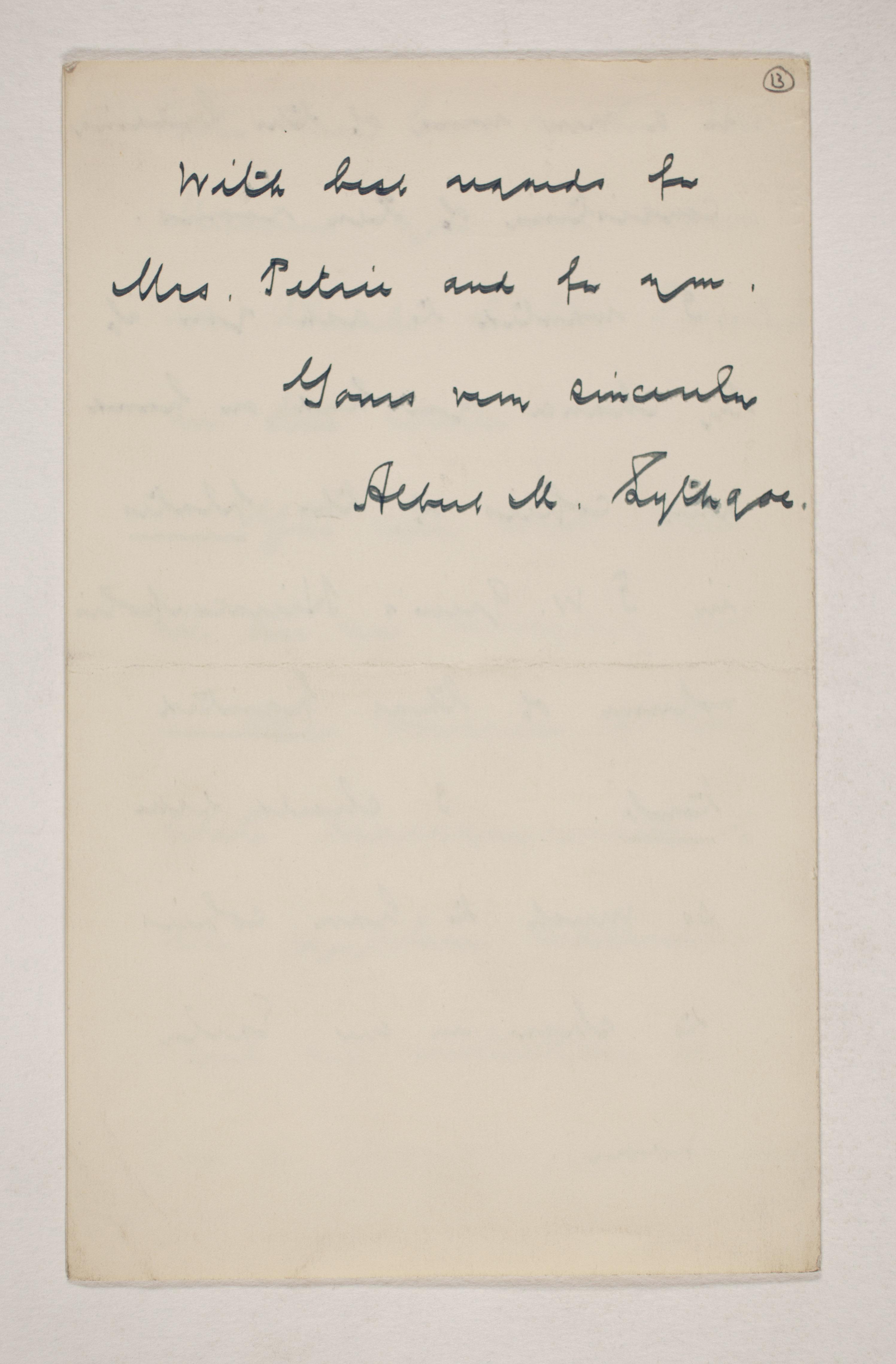 1909-10 Meidum, Memphis Correspondence PMA/WFP1/D/18/13.3