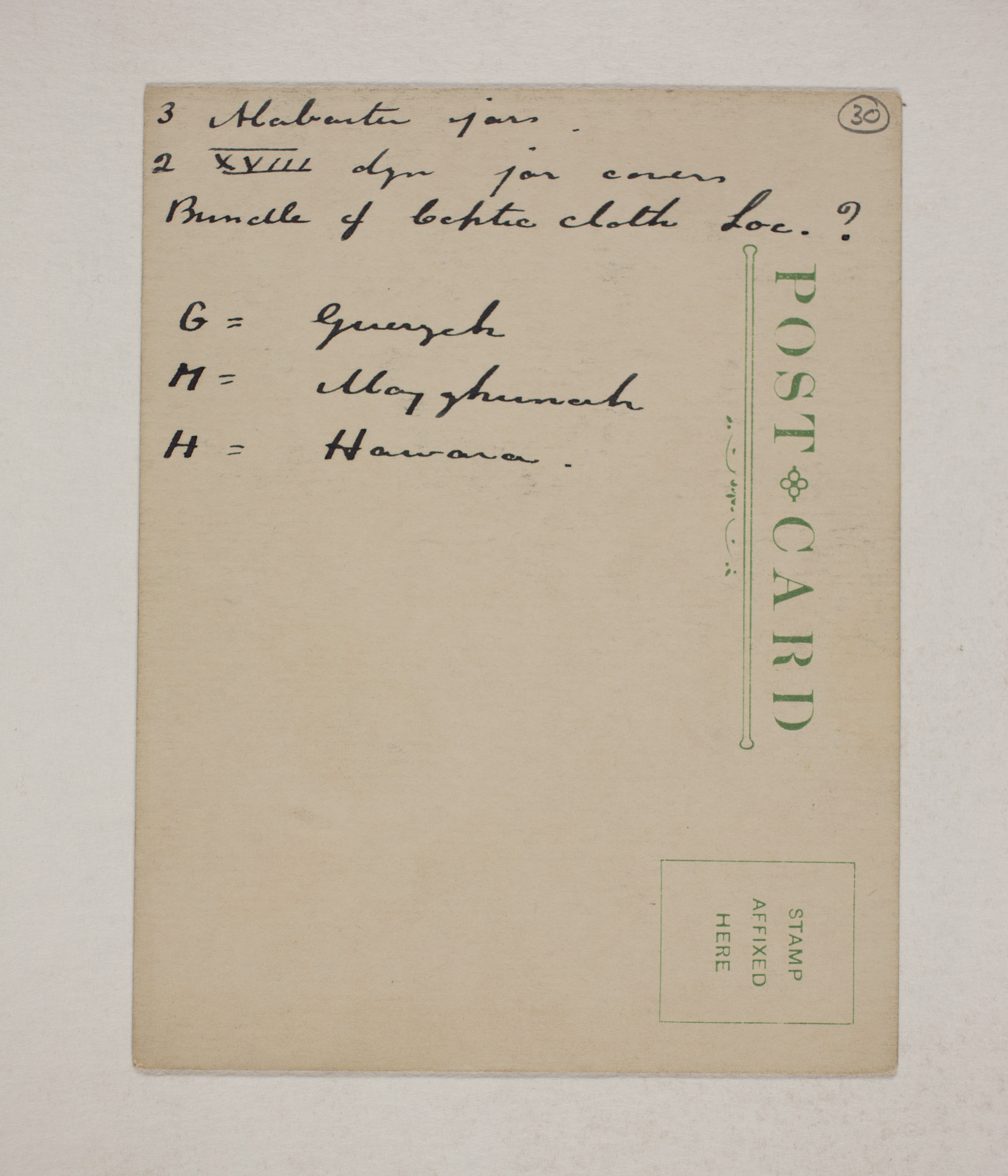 1910-11 Hawara, Gerzeh, Memphis, Mazghuneh Individual institution list  PMA/WFP1/D/19/30.2