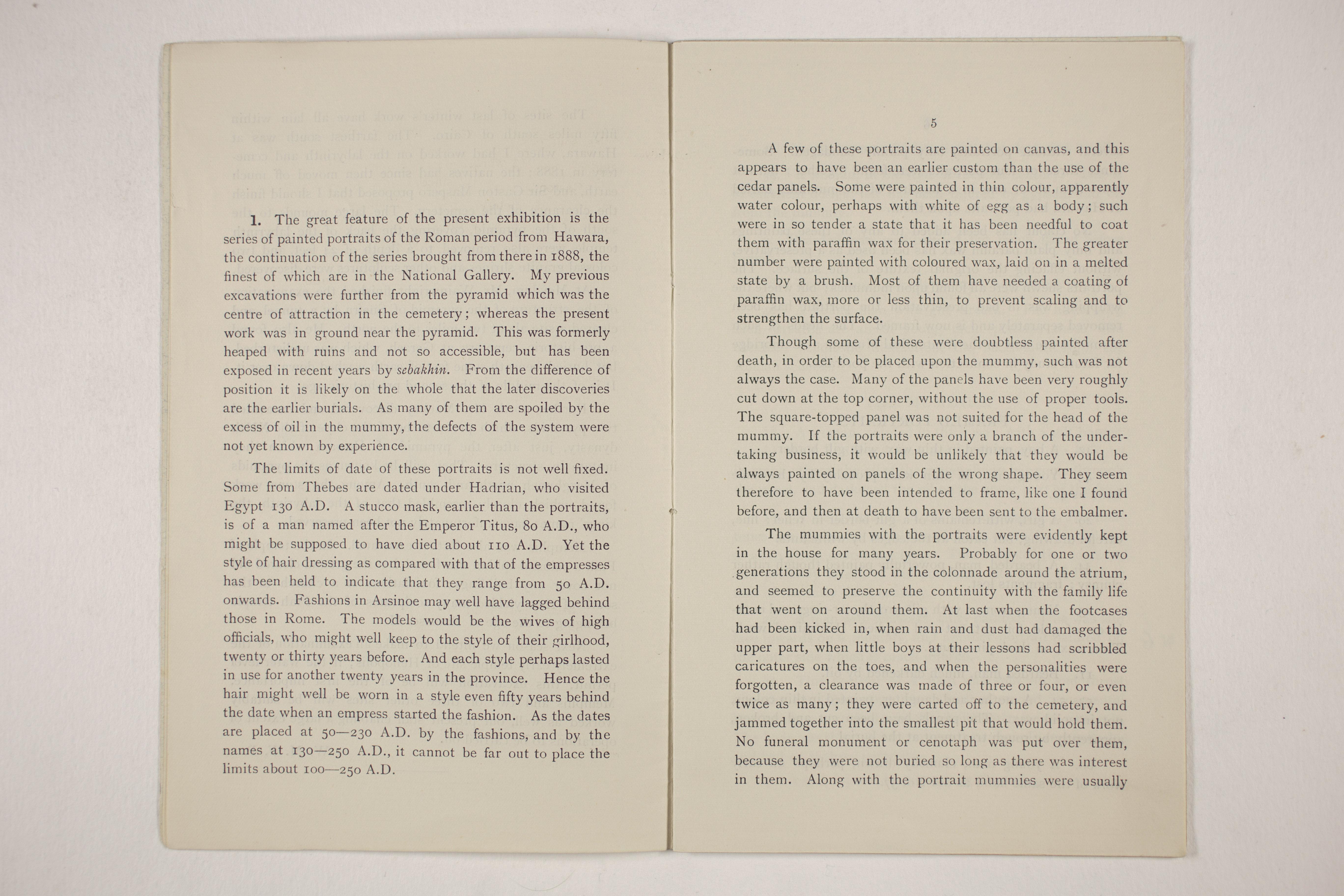 1910-11 Hawara, Gerzeh, Memphis, Mazghuneh Exhibition catalogue PMA/WFP1/D/19/33.4