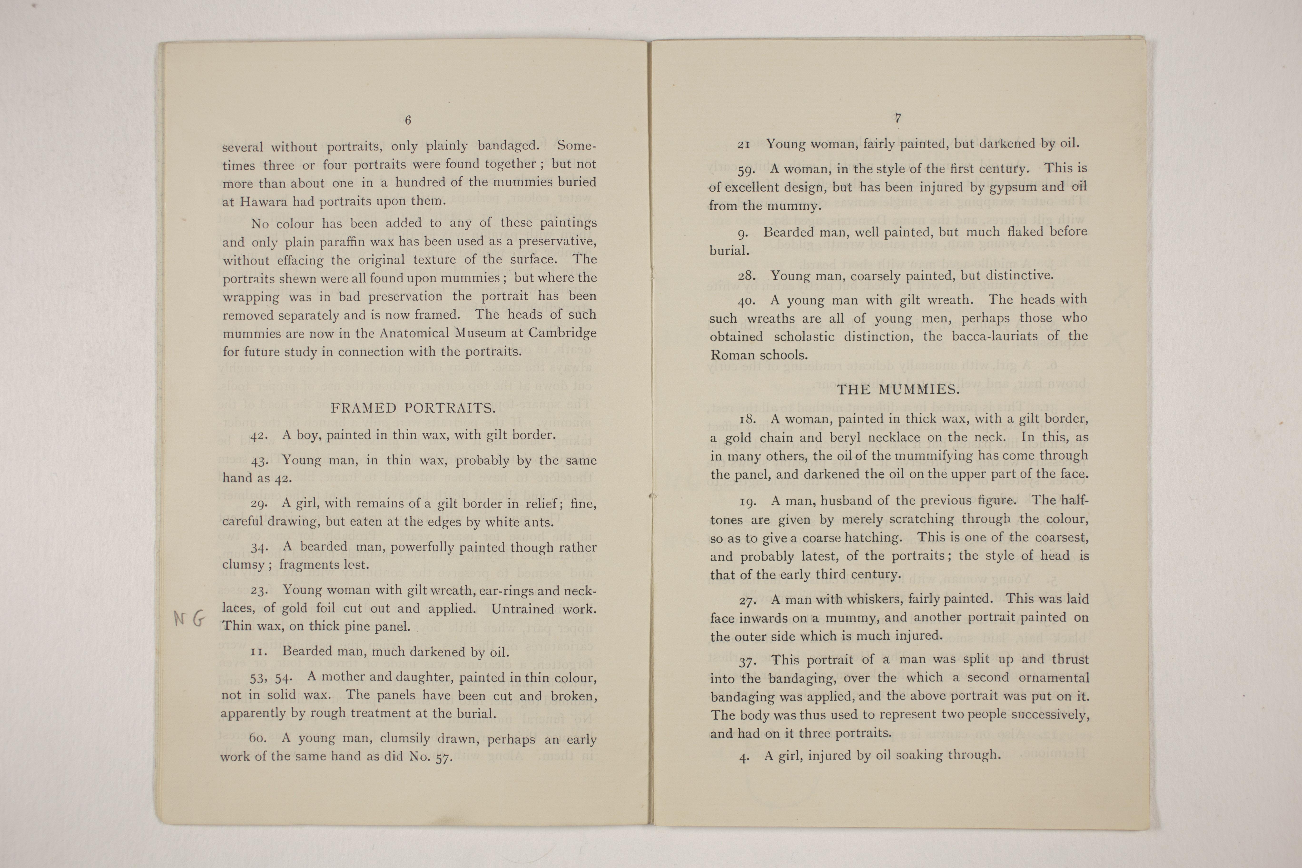 1910-11 Hawara, Gerzeh, Memphis, Mazghuneh Exhibition catalogue PMA/WFP1/D/19/33.5