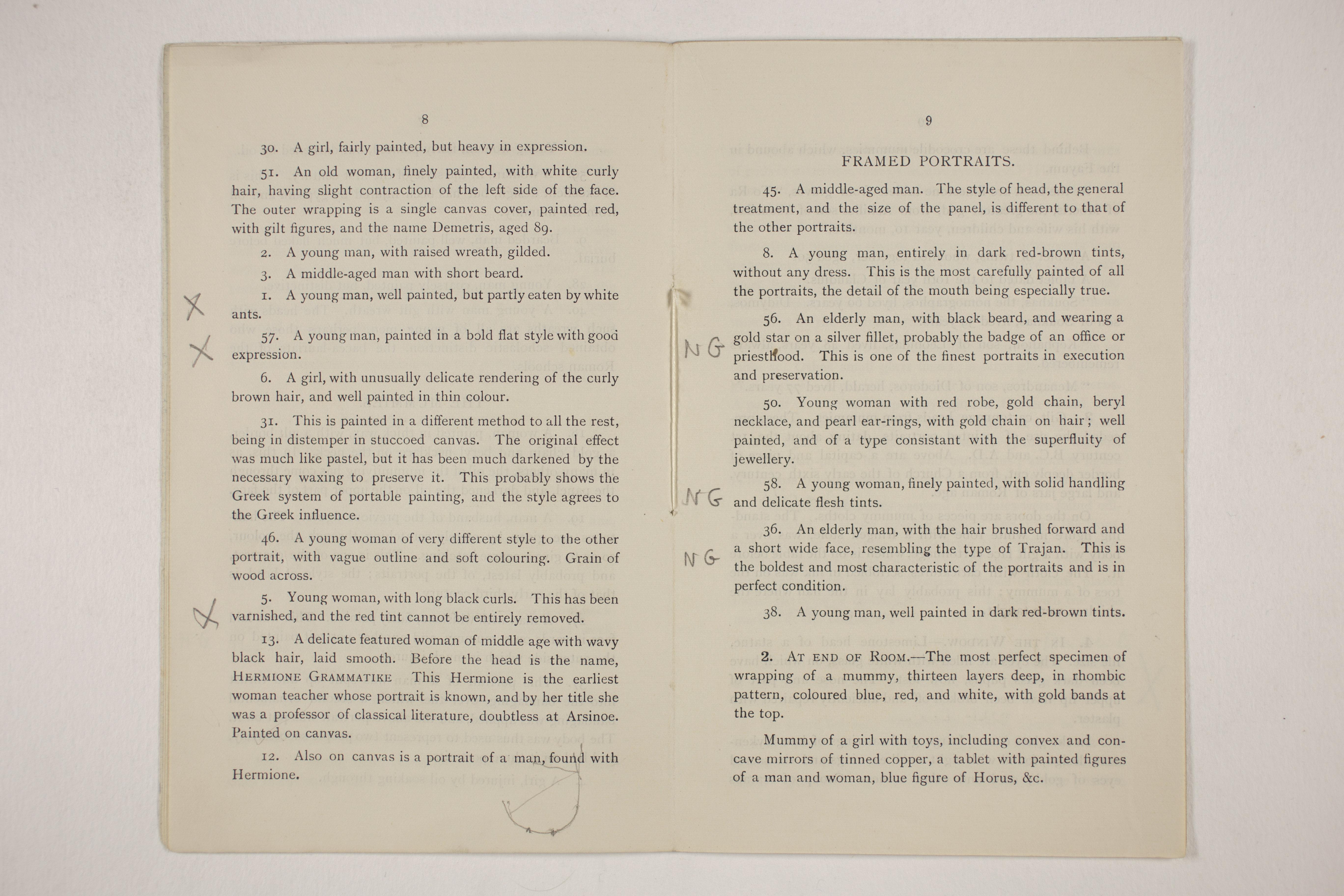 1910-11 Hawara, Gerzeh, Memphis, Mazghuneh Exhibition catalogue PMA/WFP1/D/19/33.6