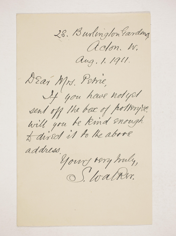1910-11 Hawara, Gerzeh, Memphis, Mazghuneh Correspondence PMA/WFP1/D/19/35.12