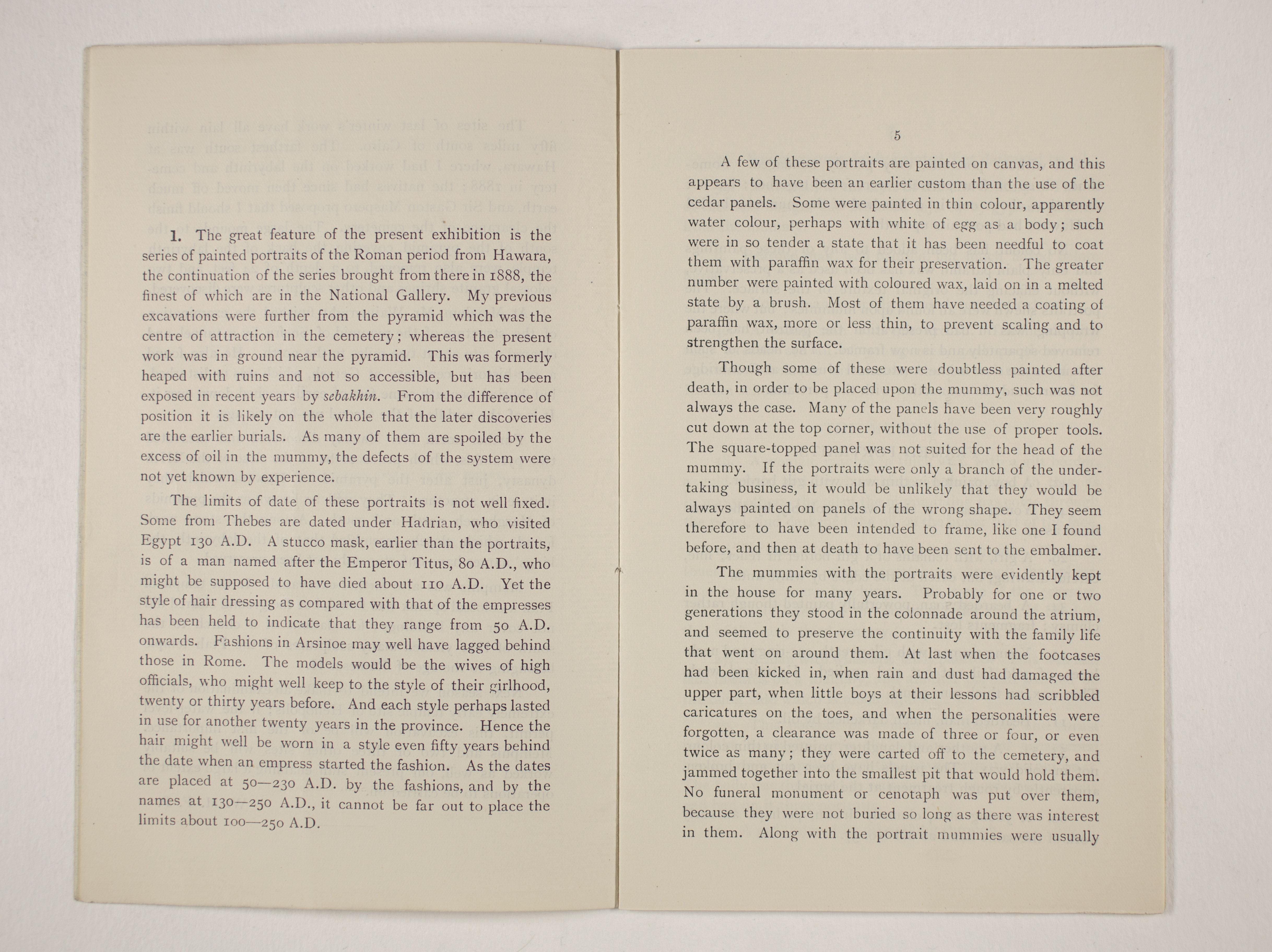 1910-11 Hawara, Gerzeh, Memphis, Mazghuneh Exhibition catalogue PMA/WFP1/D/19/35.4