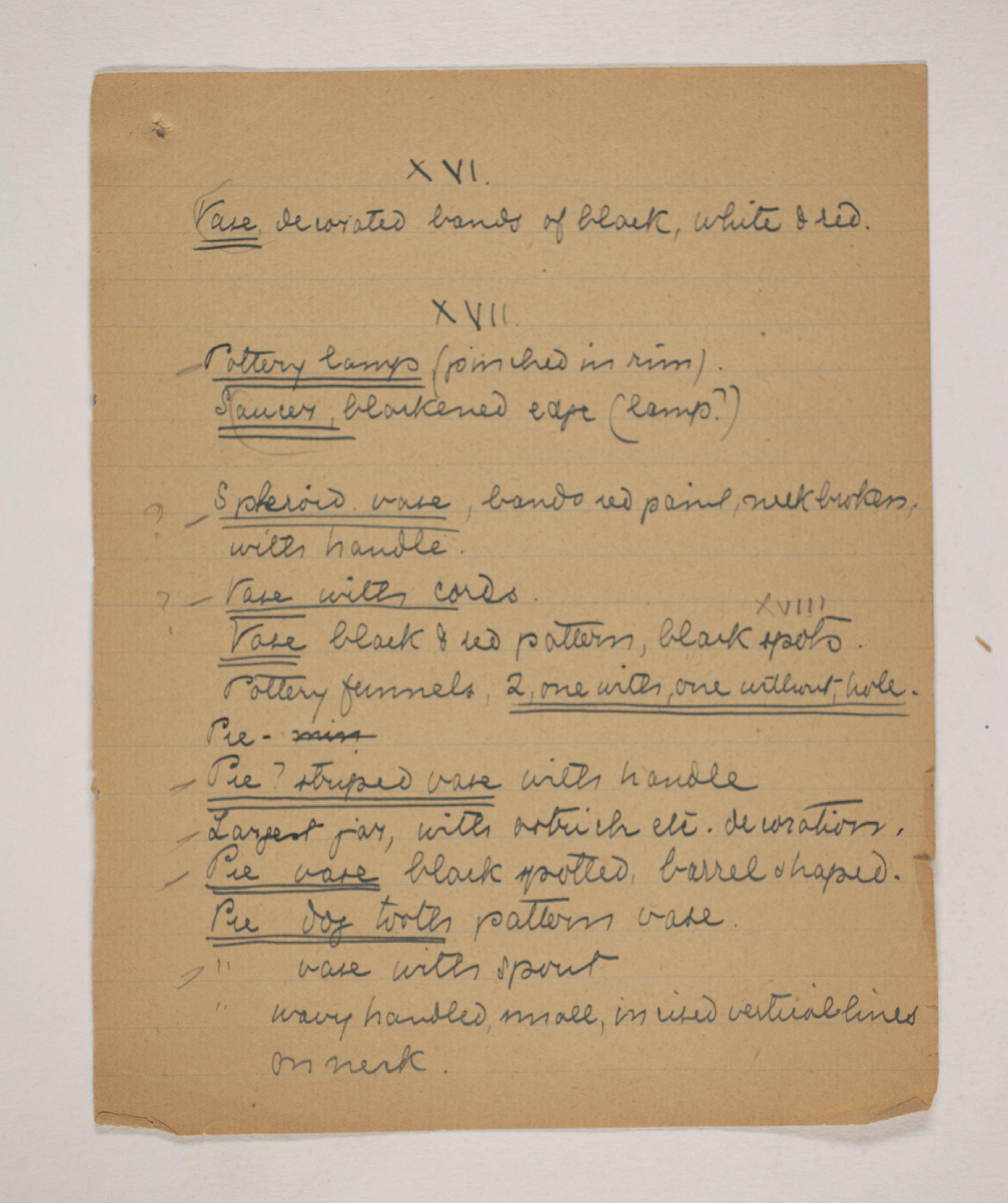 1910-11 Hawara, Gerzeh, Memphis, Mazghuneh Correspondence PMA/WFP1/D/19/36.5