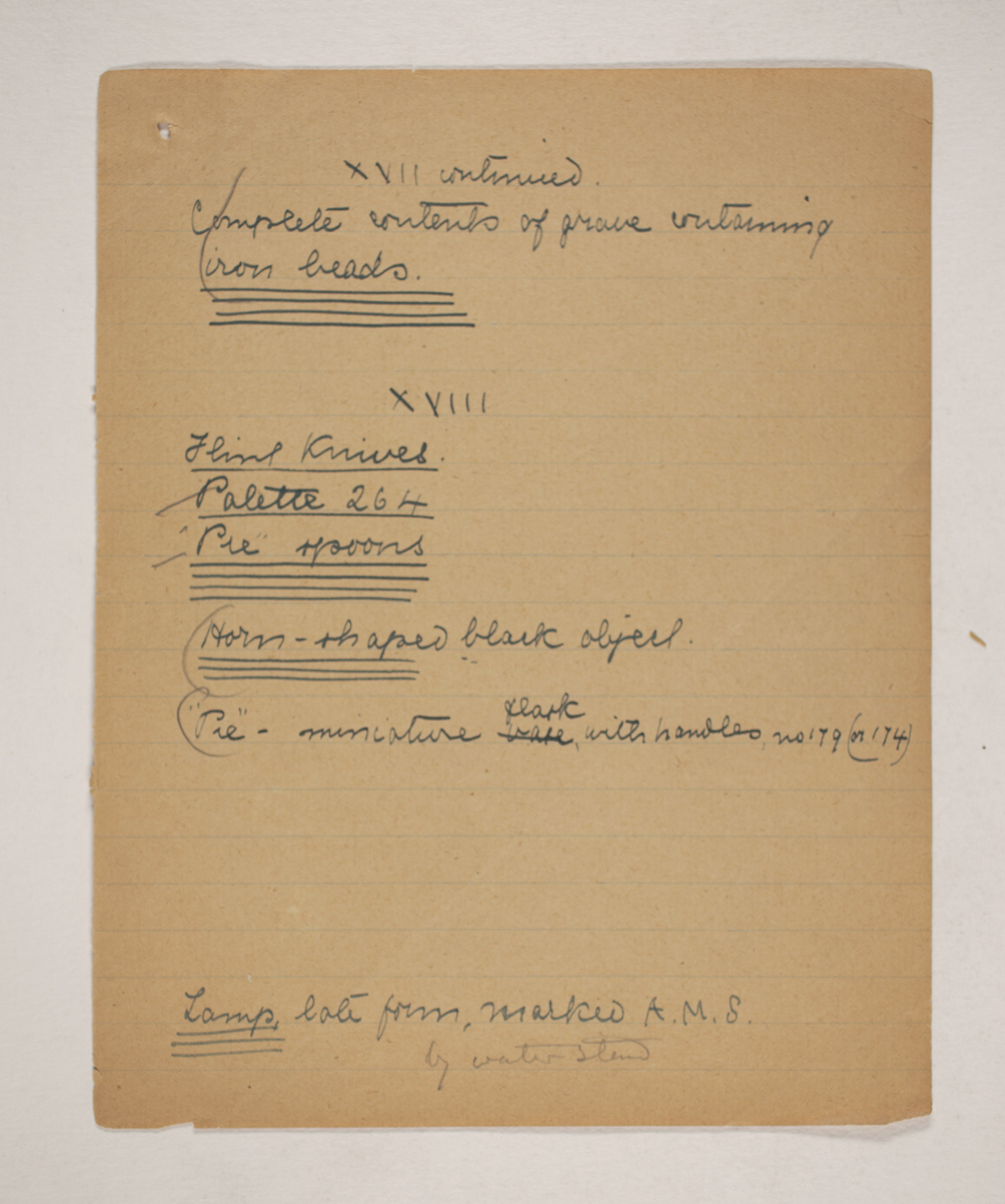1910-11 Hawara, Gerzeh, Memphis, Mazghuneh Correspondence PMA/WFP1/D/19/36.6