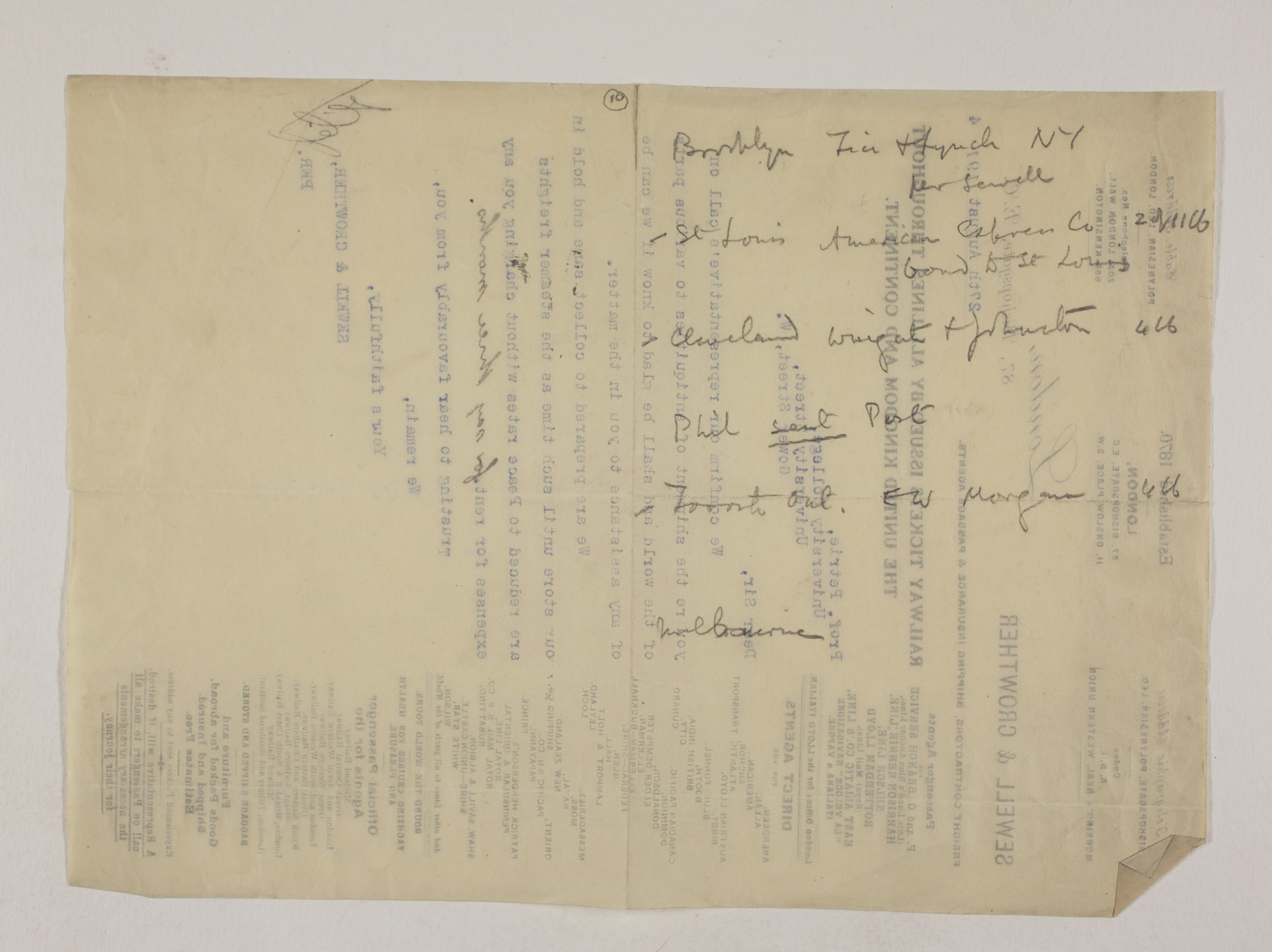1913-14 Lahun, Haraga Distribution list PMA/WFP1/D/22/10.1