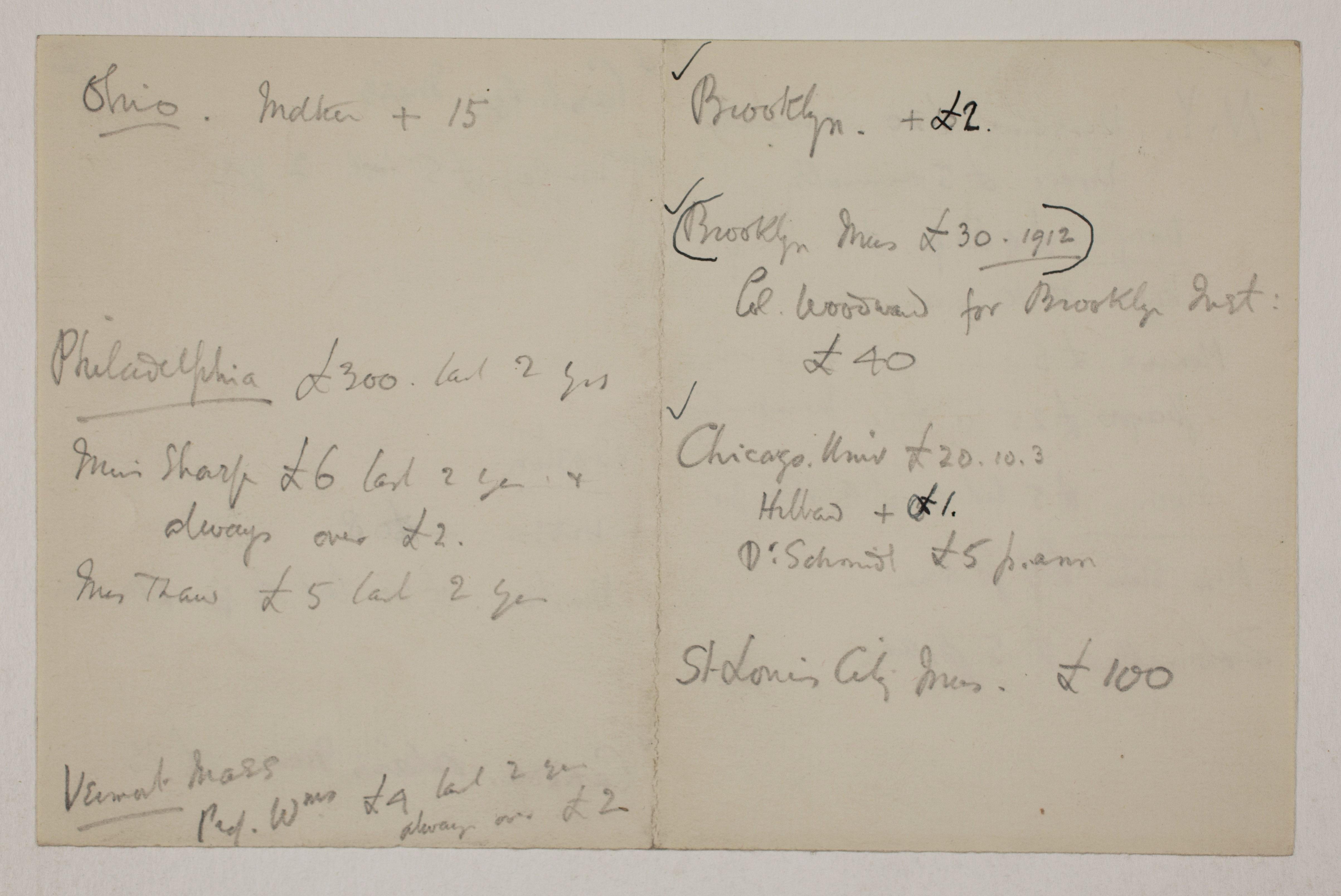 1913-14 Lahun, Haraga Distribution list PMA/WFP1/D/22/16.1