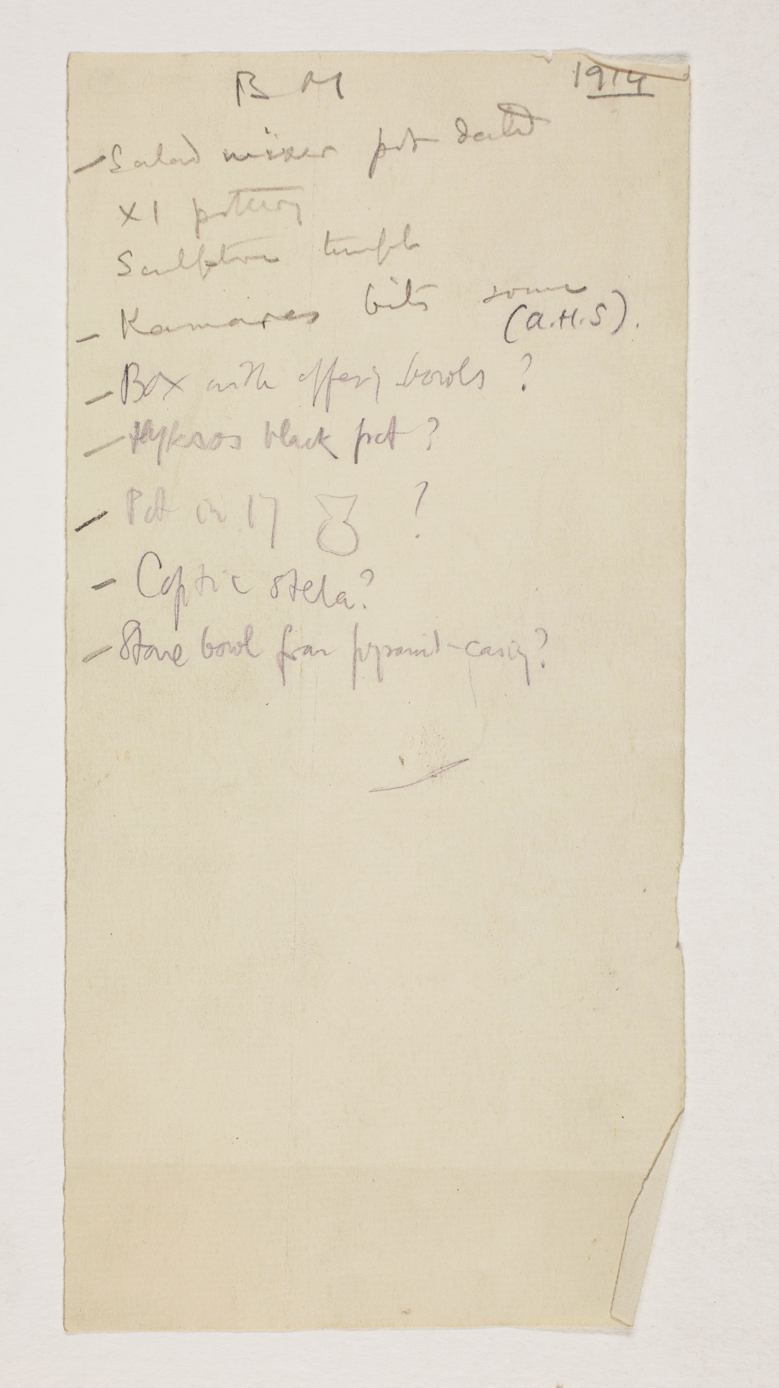 1913-14 Lahun, Haraga Individual institution list  PMA/WFP1/D/22/31