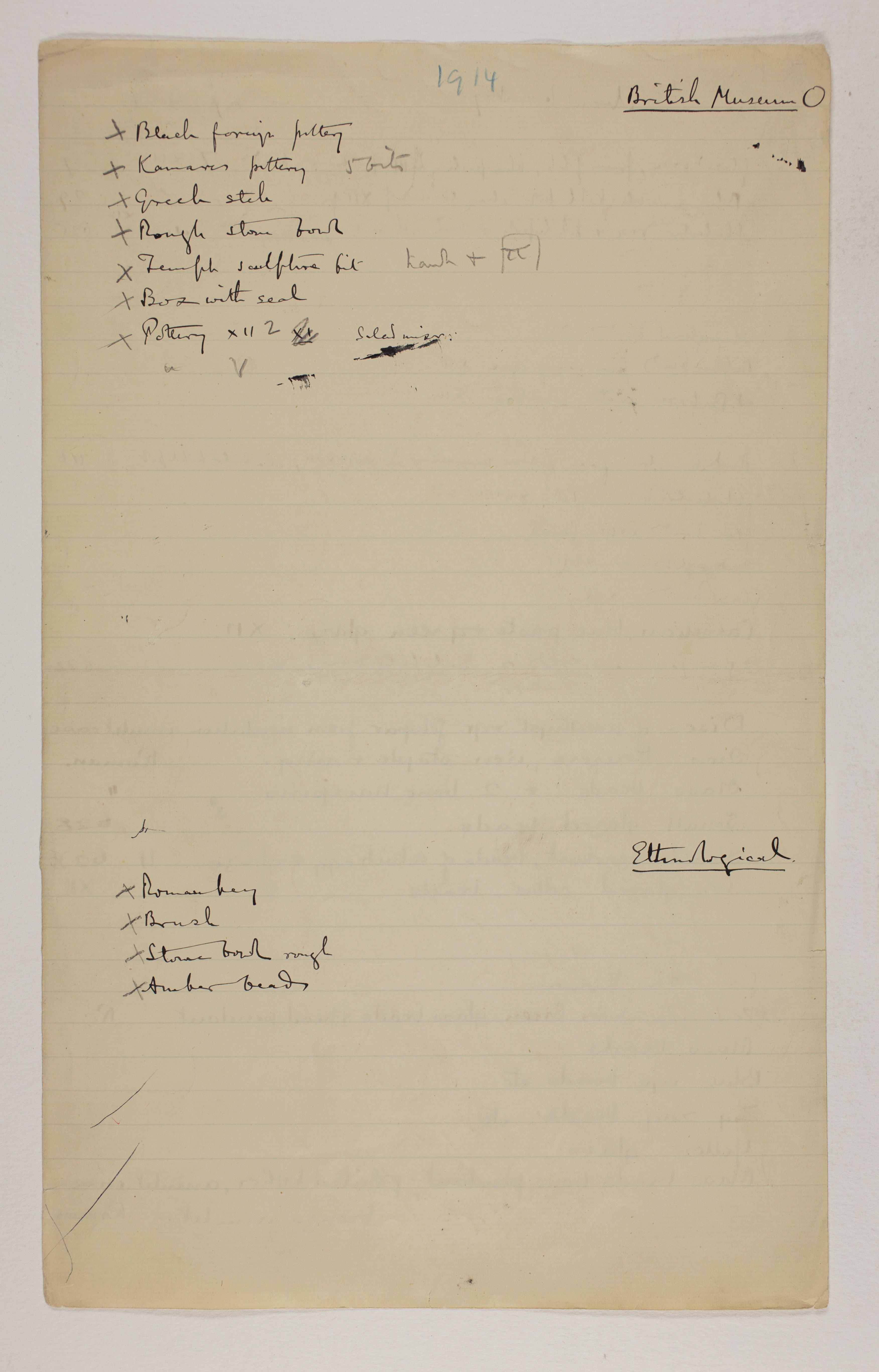 1913-14 Lahun, Haraga Multiple institution list  PMA/WFP1/D/22/44.2