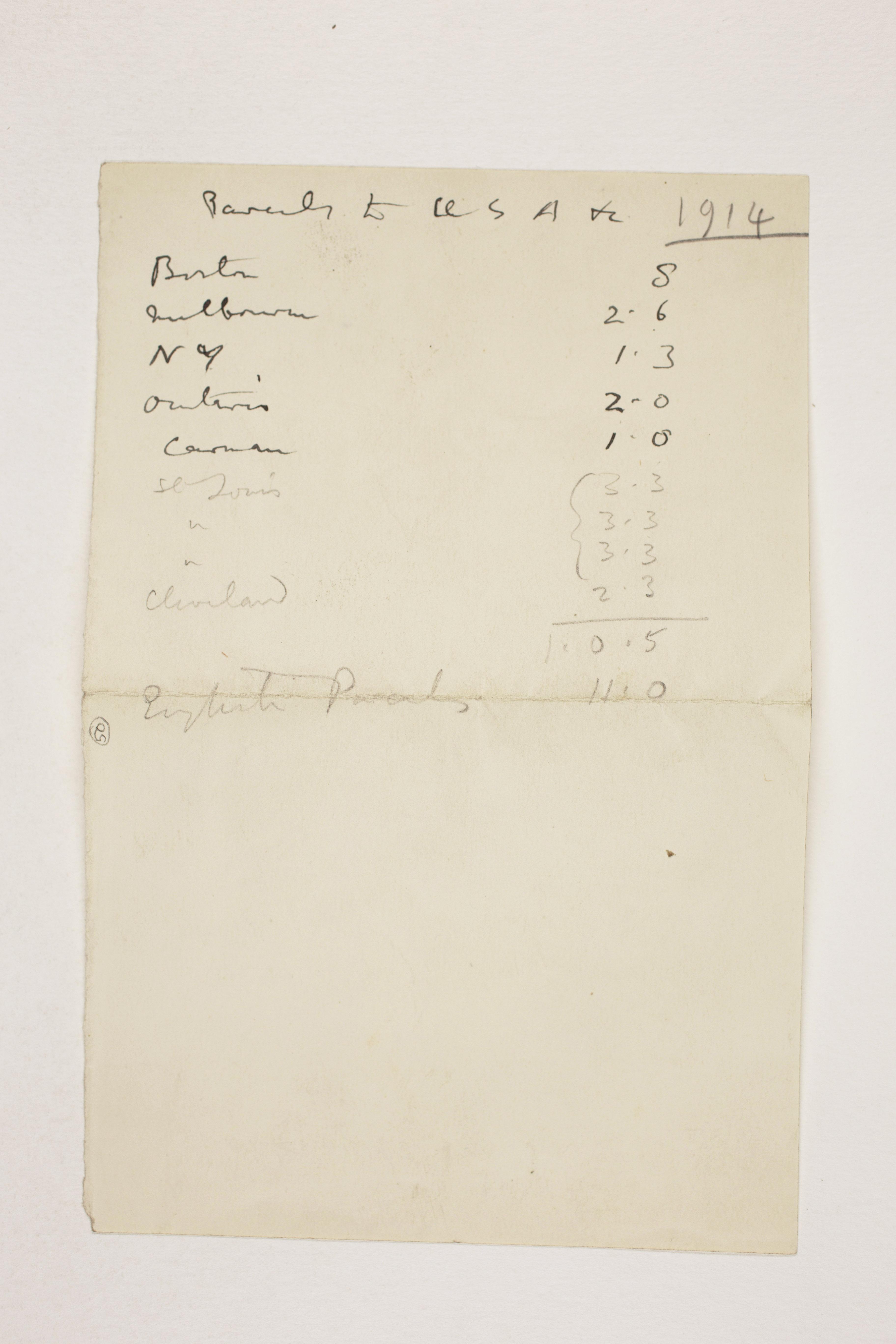 1913-14 Lahun, Haraga Distribution list PMA/WFP1/D/22/50.1