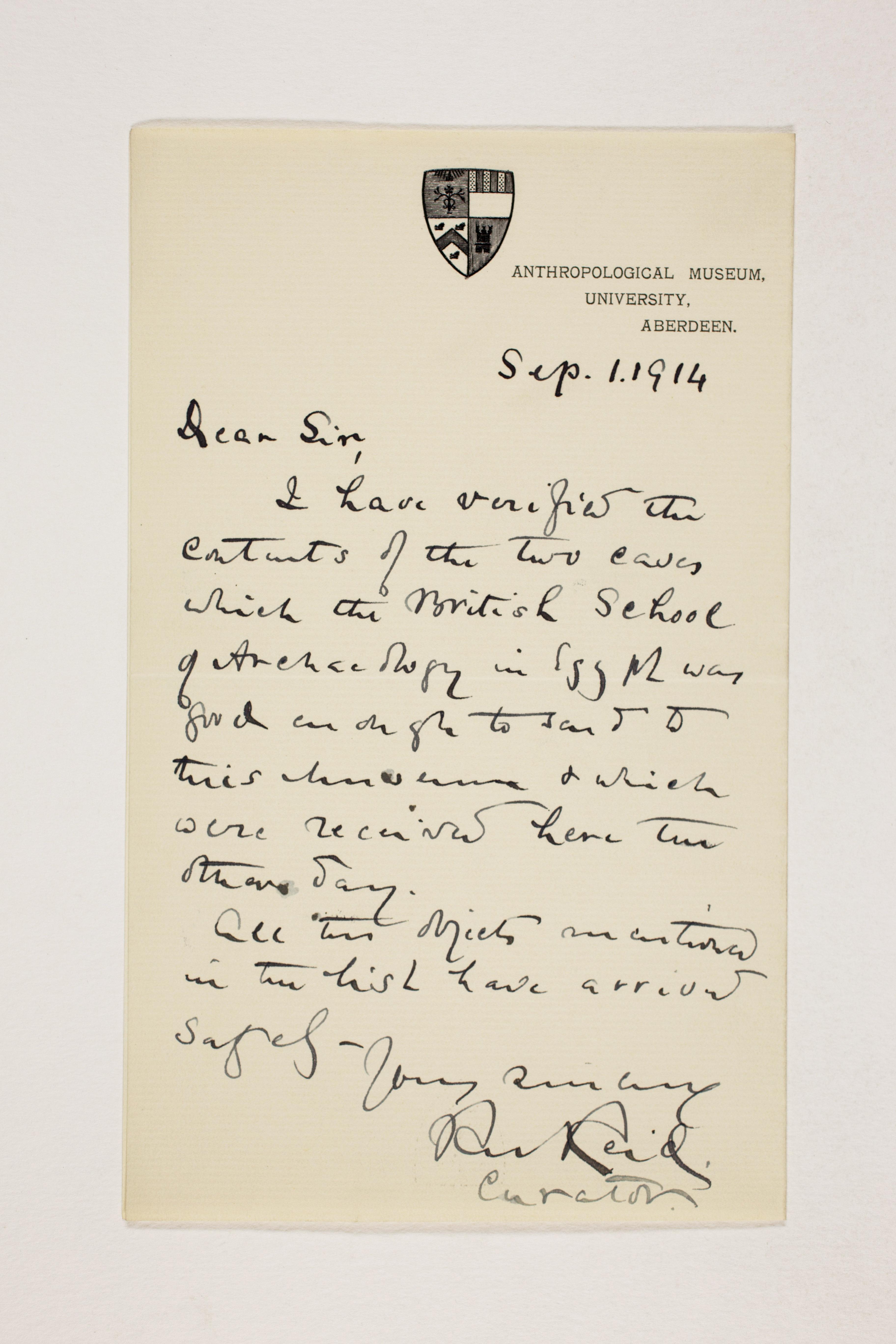 1913-14 Lahun, Haraga Correspondence PMA/WFP1/D/22/59
