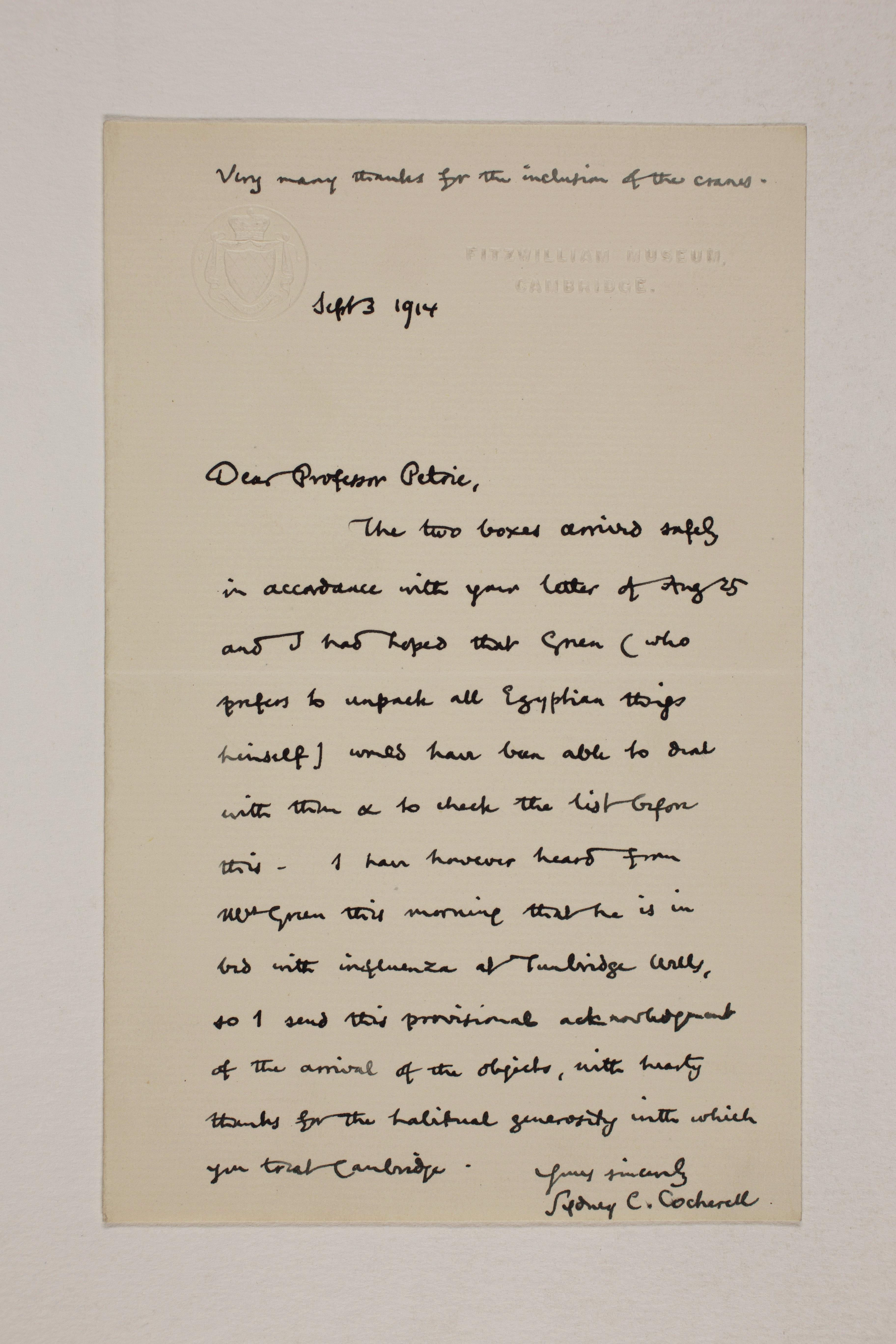 1913-14 Lahun, Haraga Correspondence PMA/WFP1/D/22/60