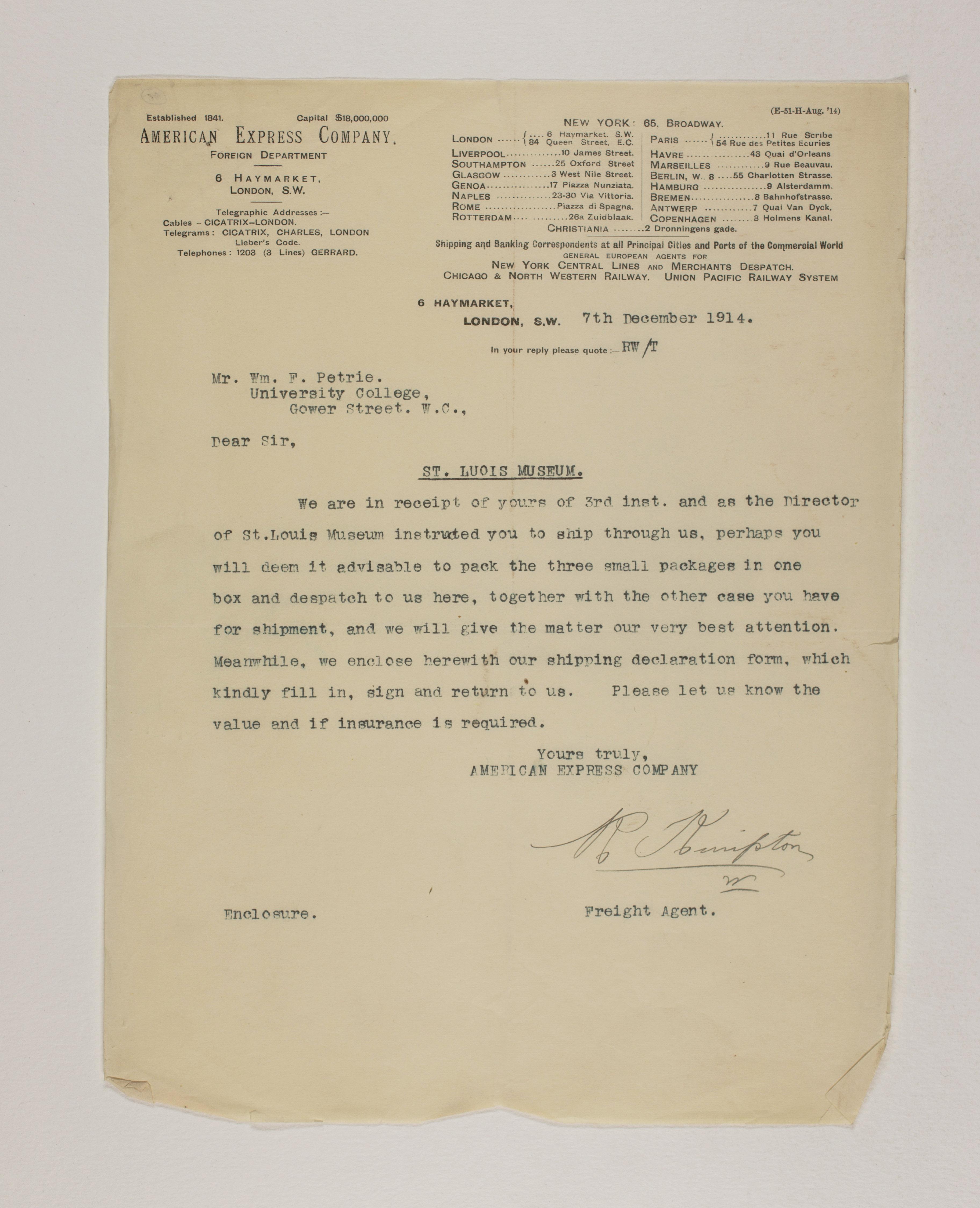 1913-14 Lahun, Haraga Mailing label PMA/WFP1/D/22/68
