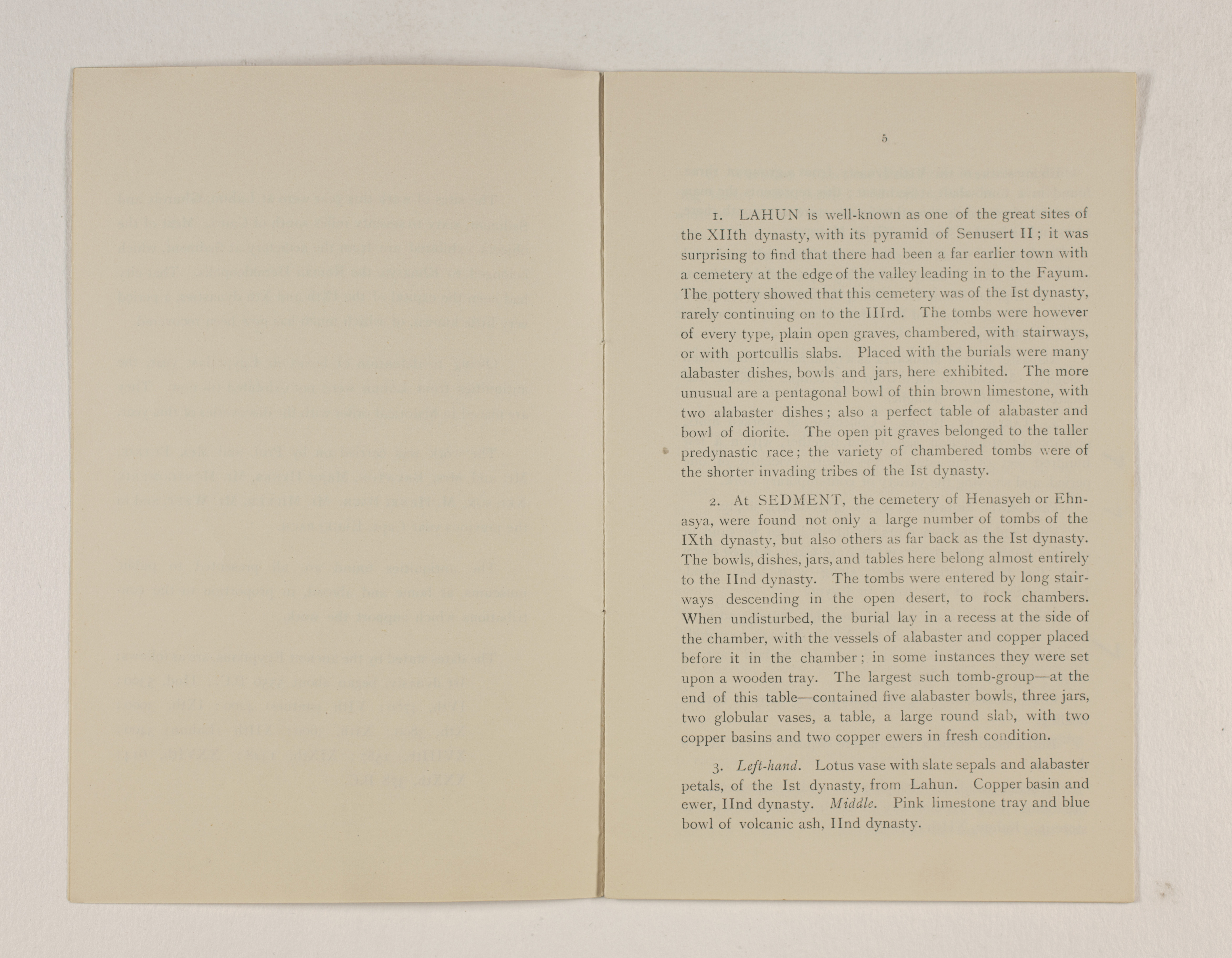 1919-21 Sedment, Lahun Exhibition catalogue PMA/WFP1/D/24/48.3