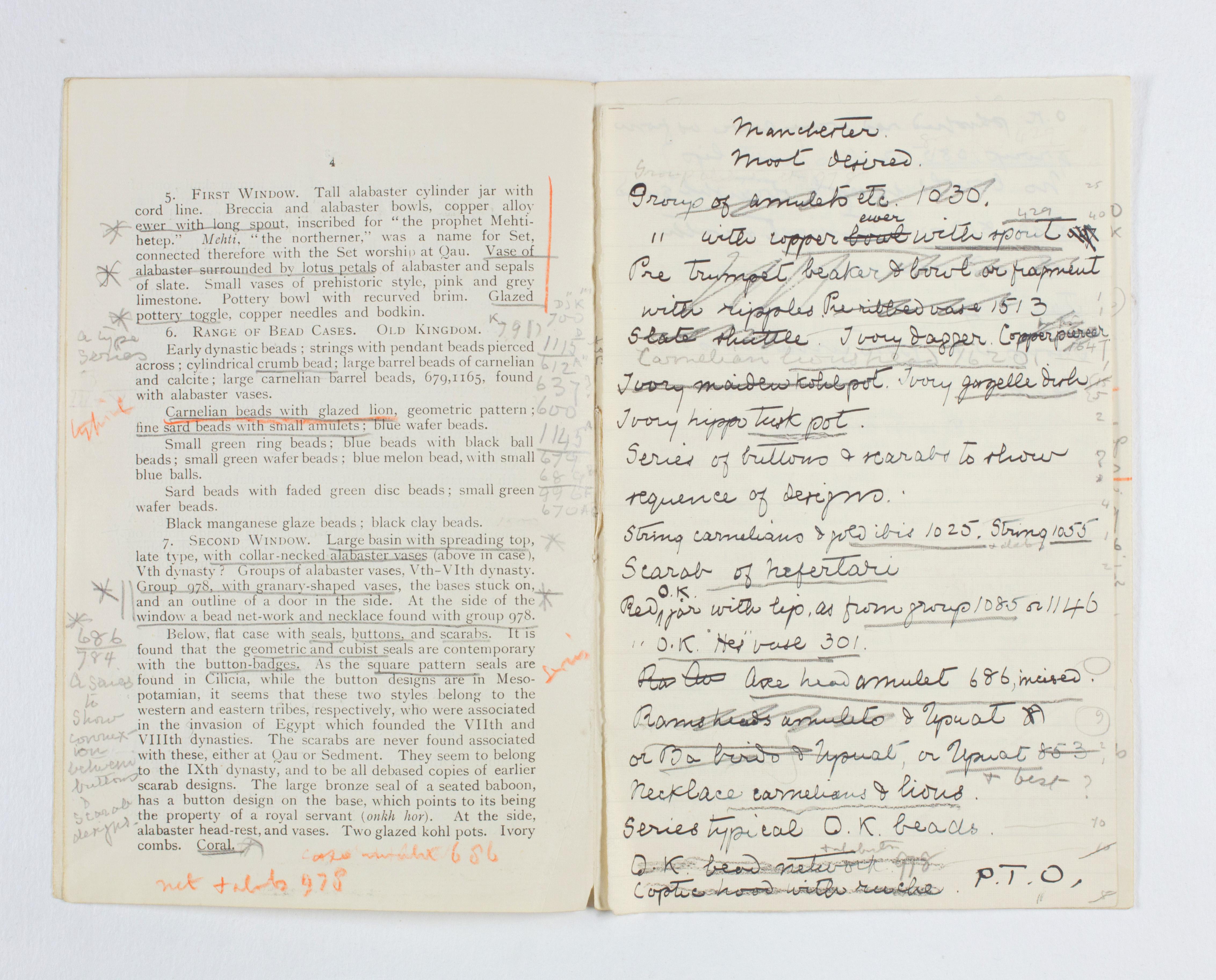 1922-23 Qau el-Kebir Exhibition catalogue PMA/WFP1/D/26/31.3