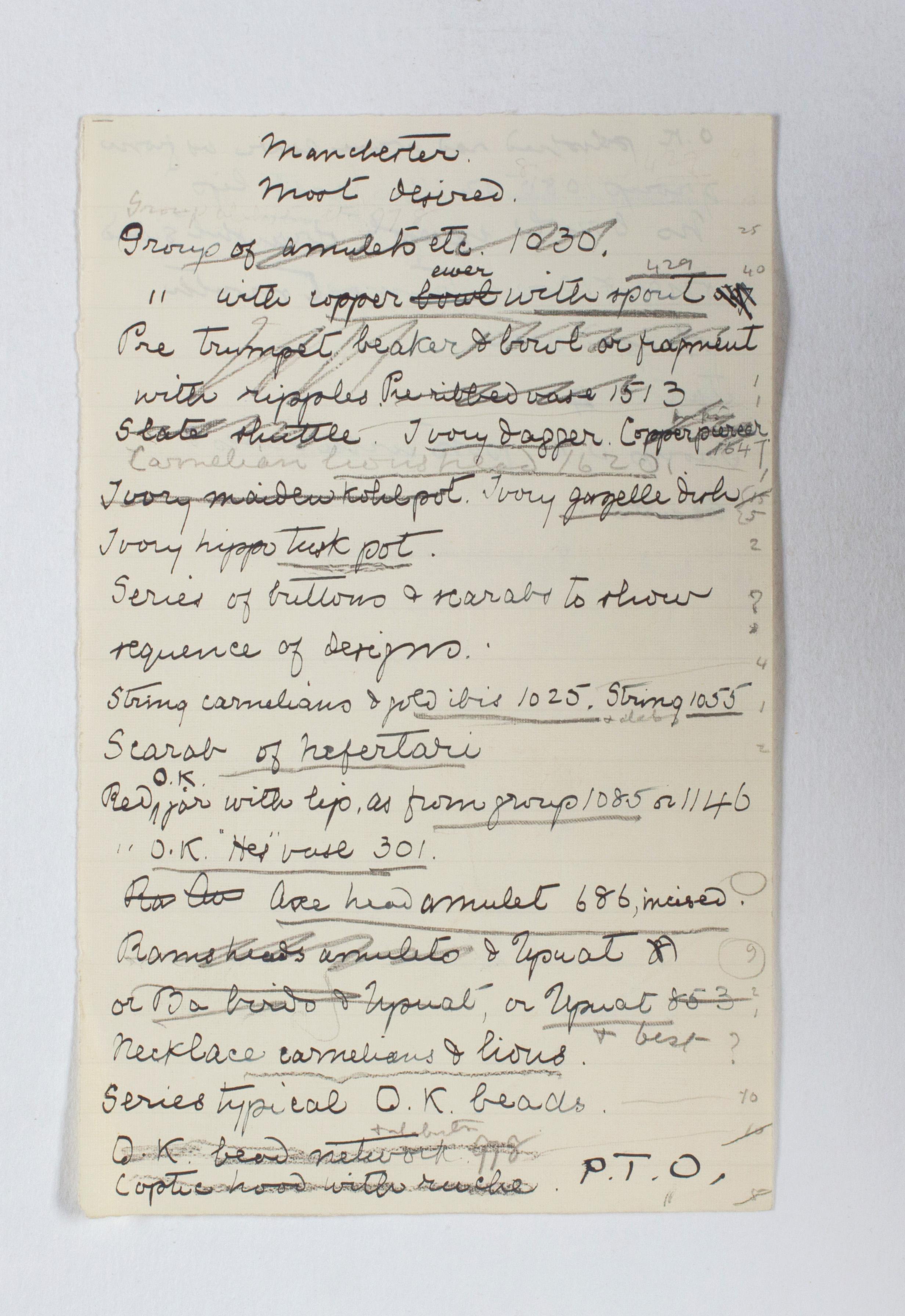 1922-23 Qau el-Kebir Exhibition catalogue PMA/WFP1/D/26/31.4