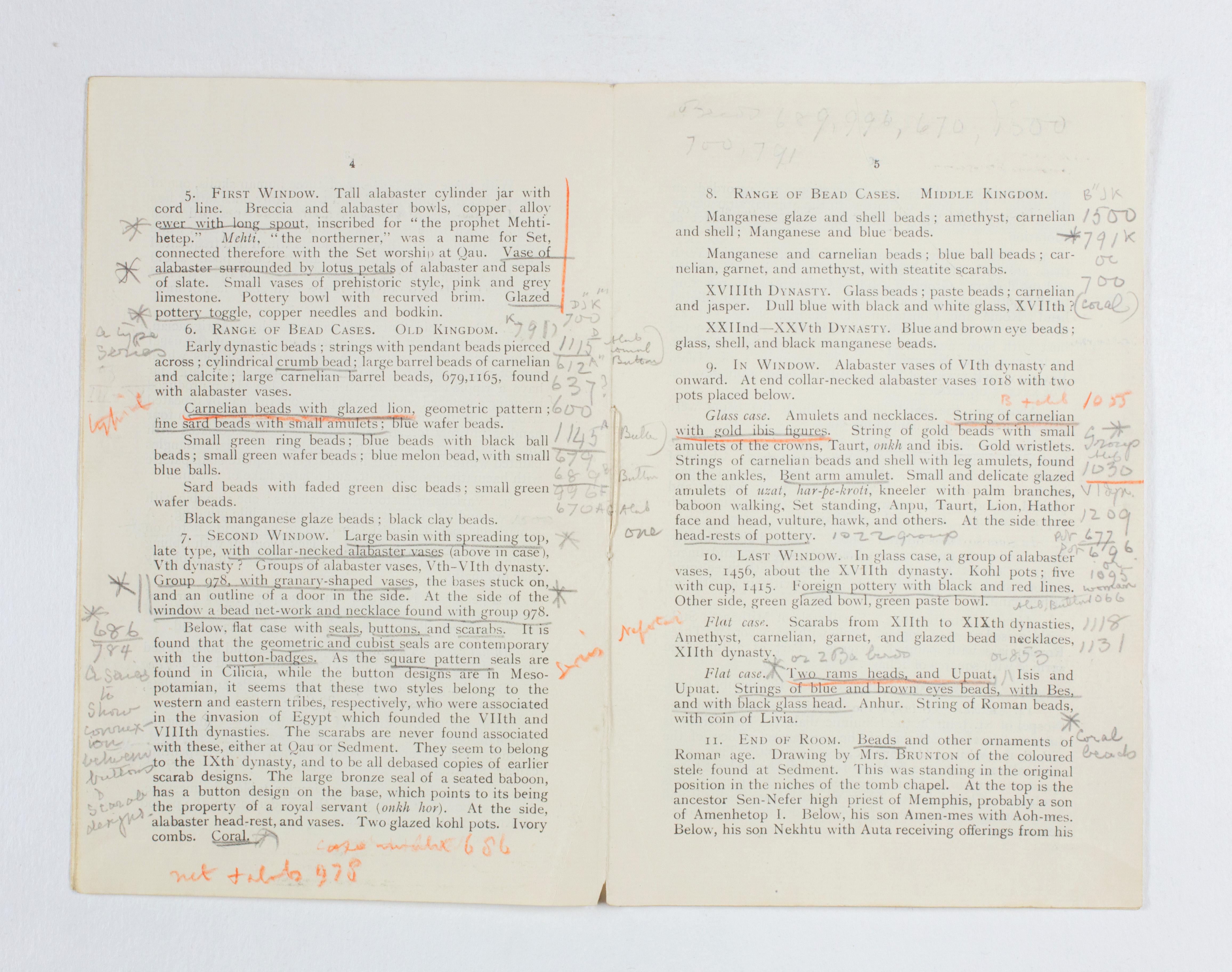 1922-23 Qau el-Kebir Exhibition catalogue PMA/WFP1/D/26/31.6