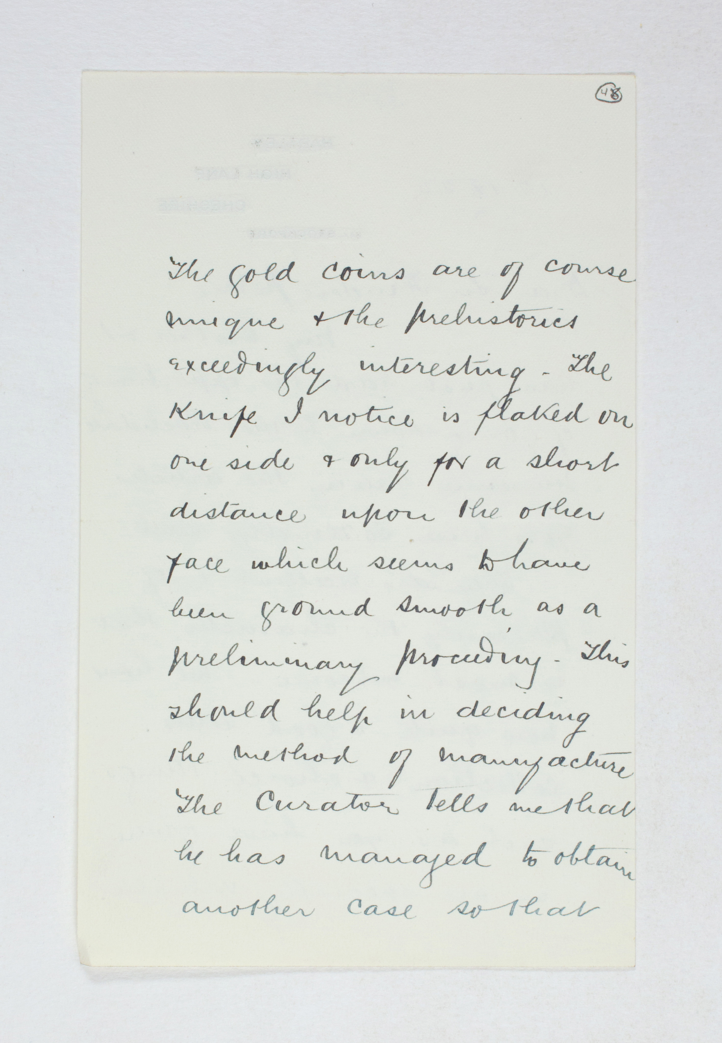 1922-23 Qau el-Kebir Correspondence PMA/WFP1/D/26/48.2