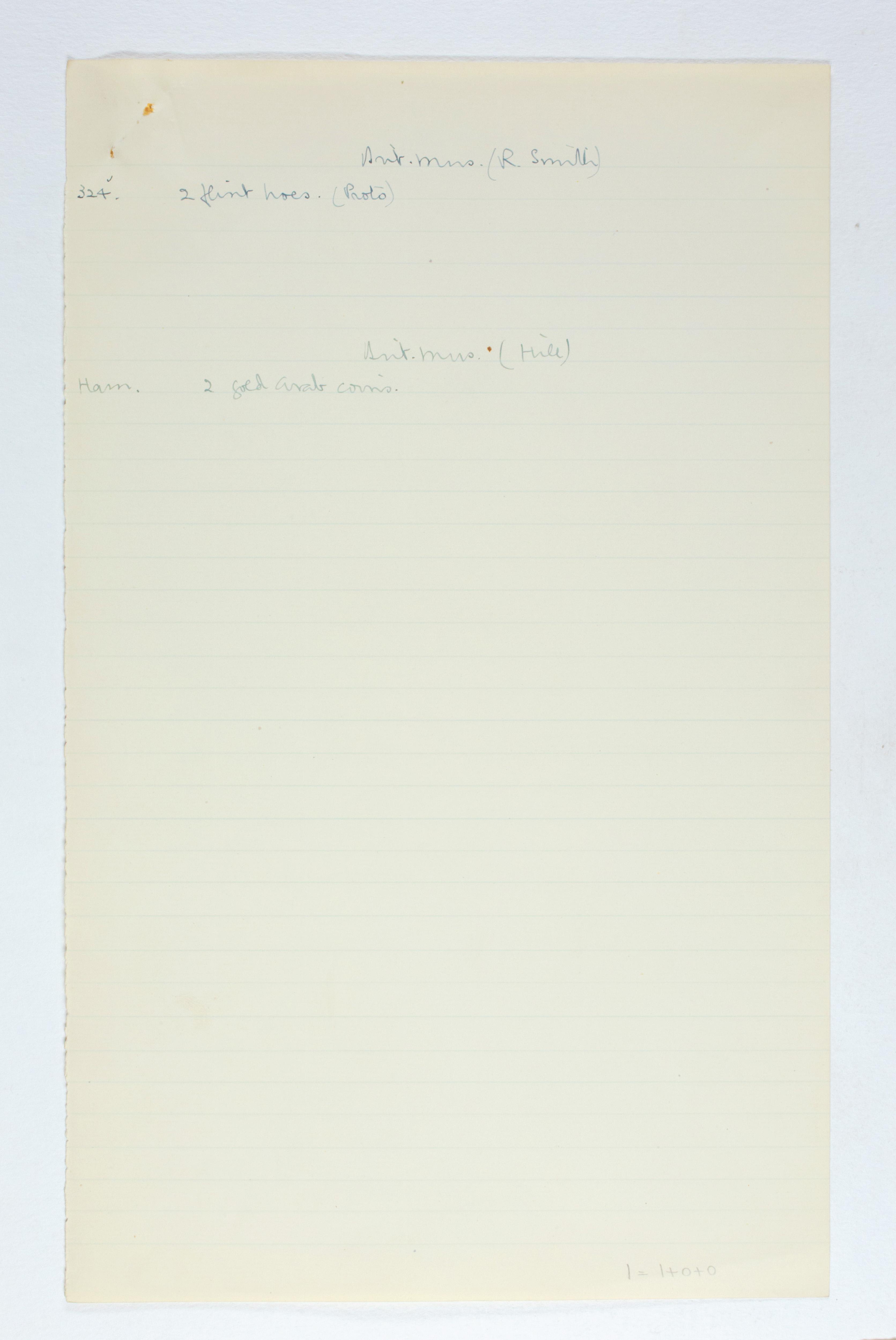 1923-24 Qau el-Kebir, Hemamieh Individual institution list PMA/WFP1/D/27/16.3