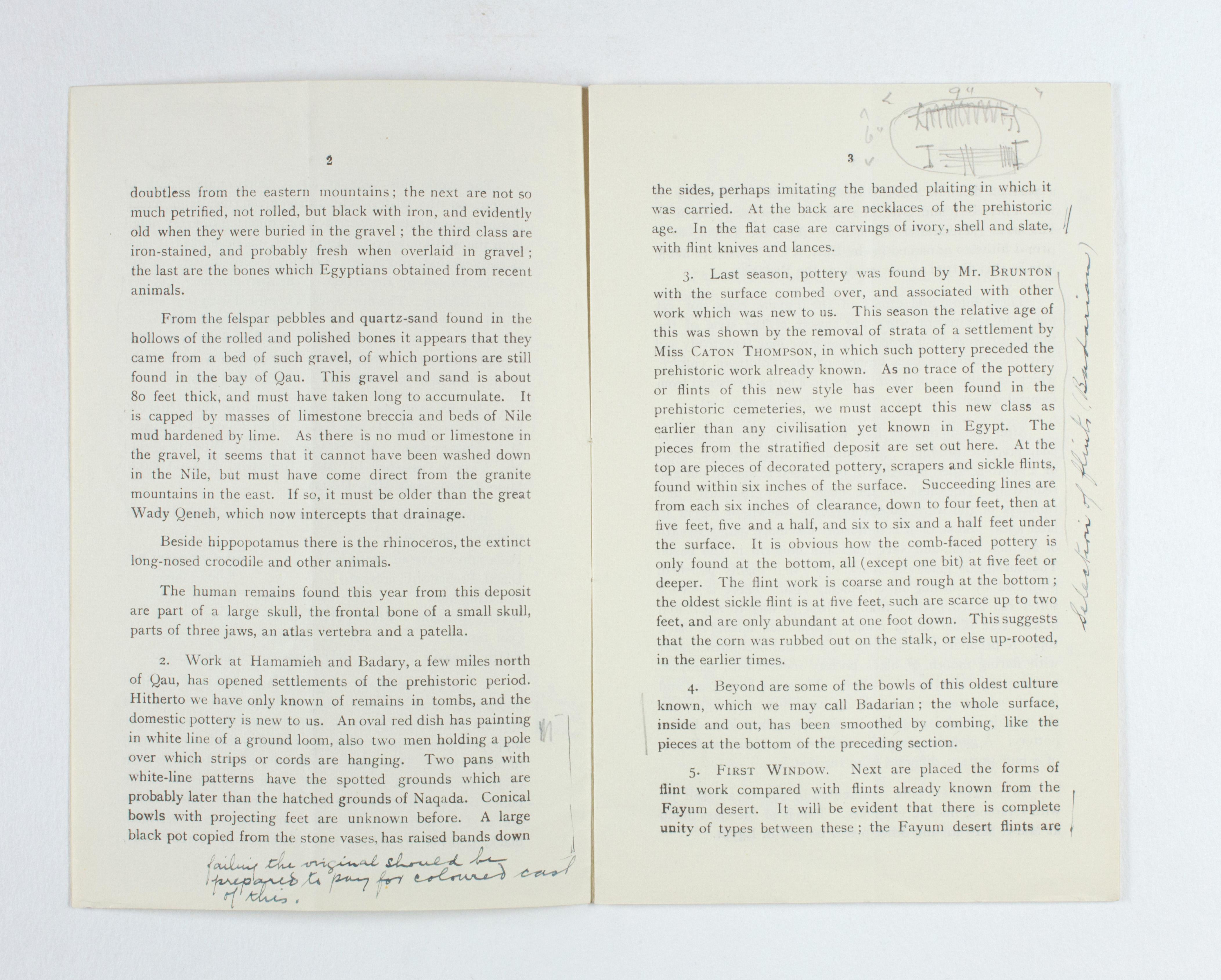 1923-24 Qau el-Kebir, Hemamieh Exhibition catalogue PMA/WFP1/D/27/28.3
