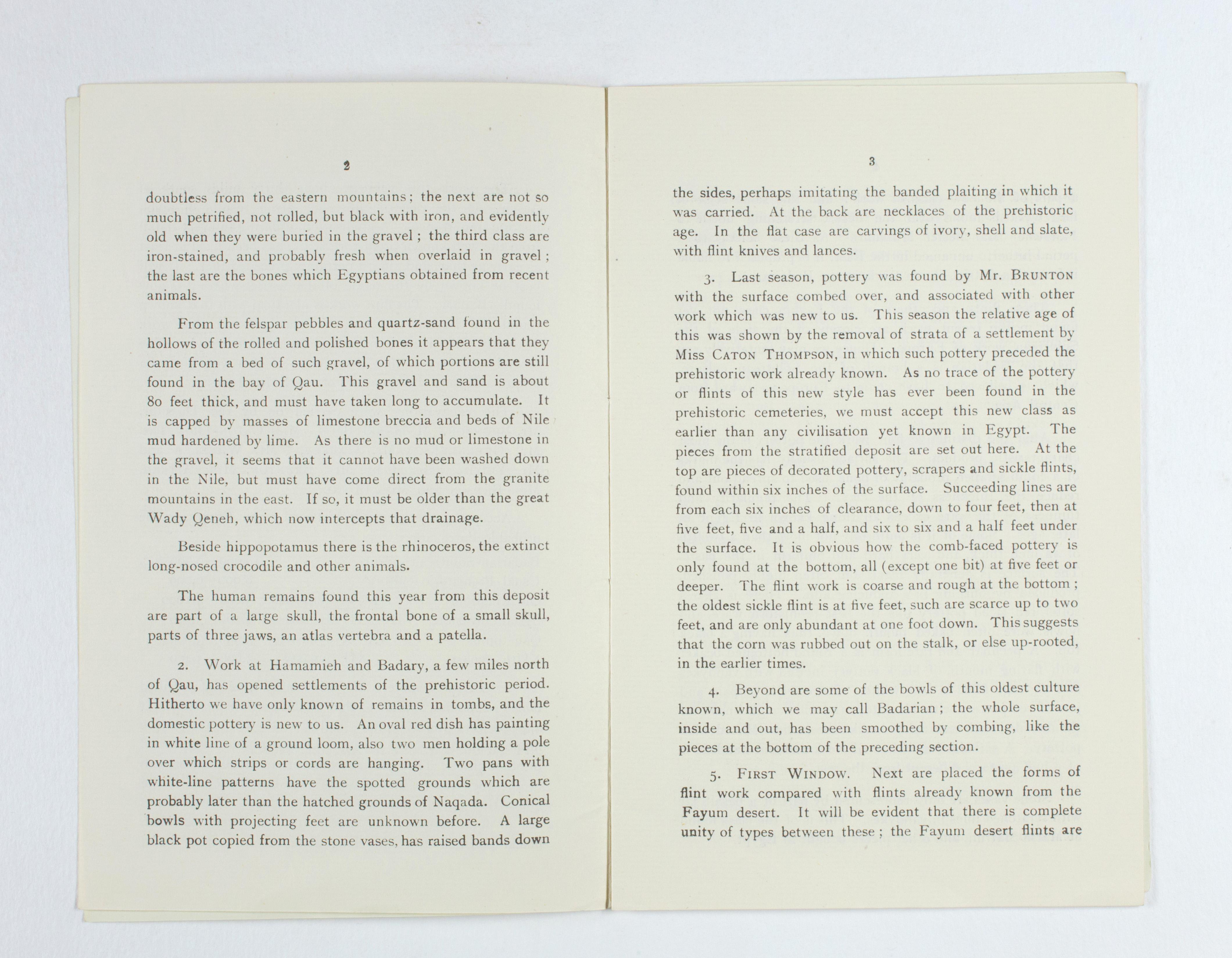 1923-24 Qau el-Kebir, Hemamieh Exhibition catalogue PMA/WFP1/D/27/29.3